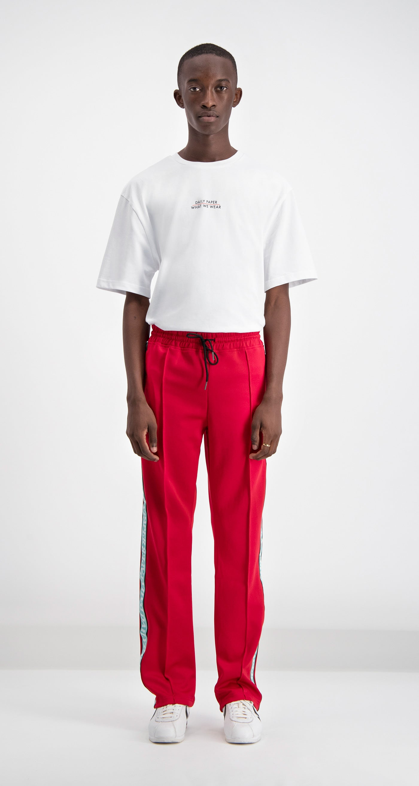 Red Liba Track Pants