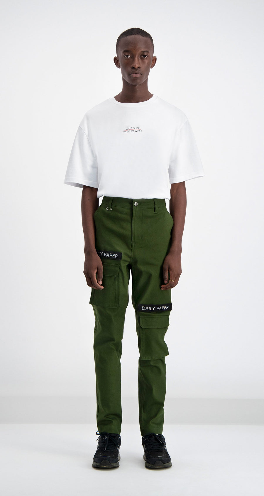 Daily Paper - Cargo Pants Olive Green Men Front
