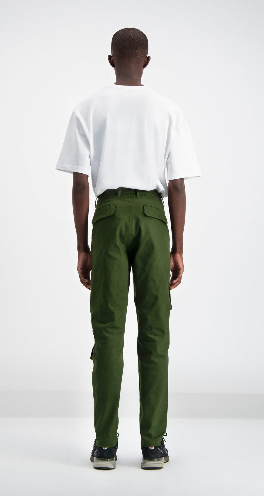 Daily Paper - Cargo Pants Olive Green Men Rear