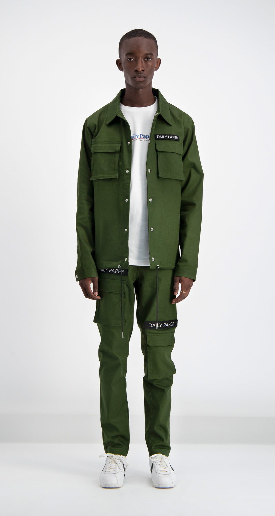Daily Paper - Cargo Coach Jacket Green Men Front