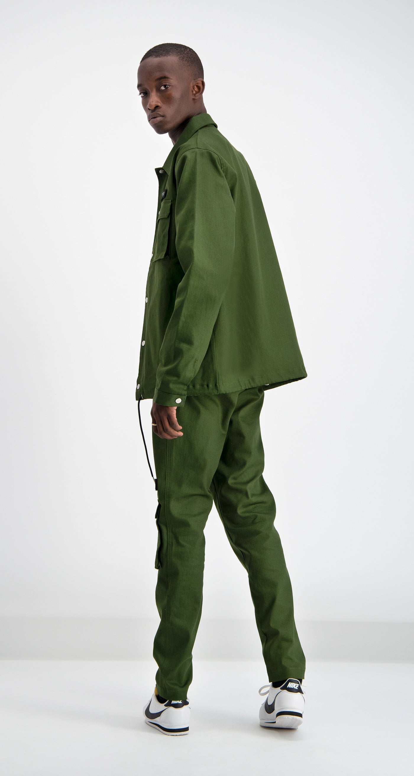Daily Paper - Cargo Coach Jacket Green Rear