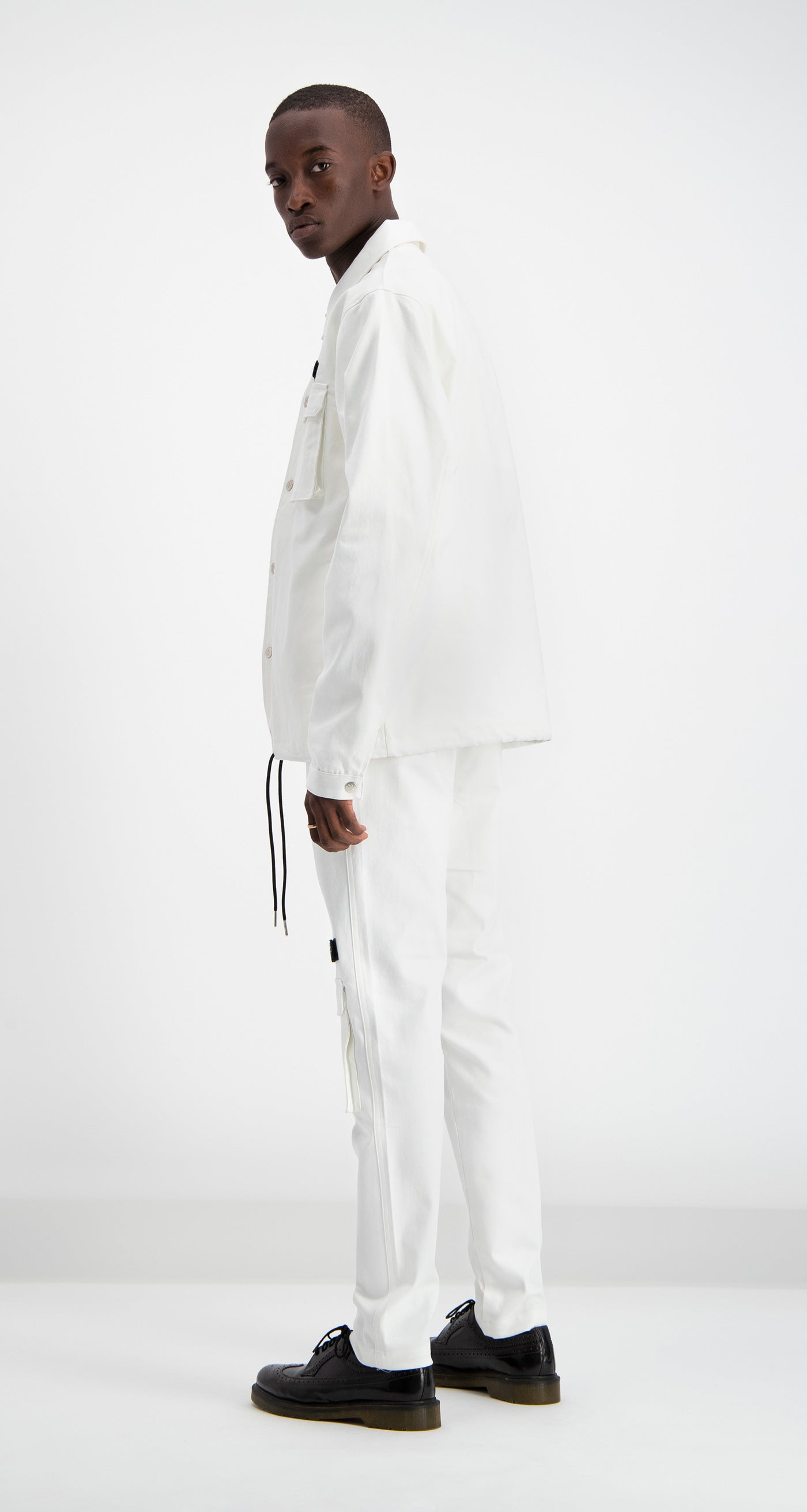 Daily Paper - Cargo Coach Jacket Bone Men Rear