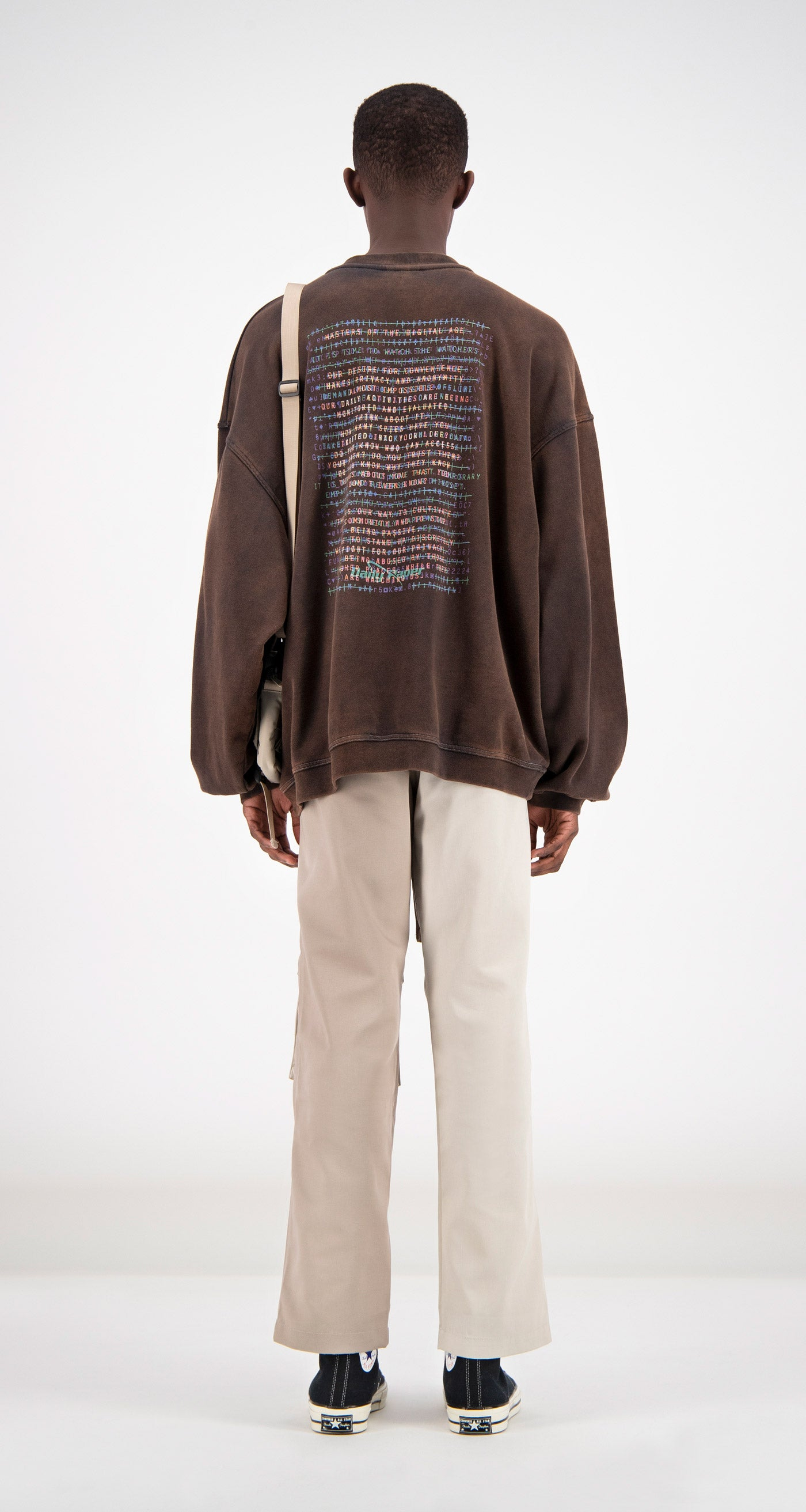 Daily Paper - Brown Fadu Oversized Sweater Men