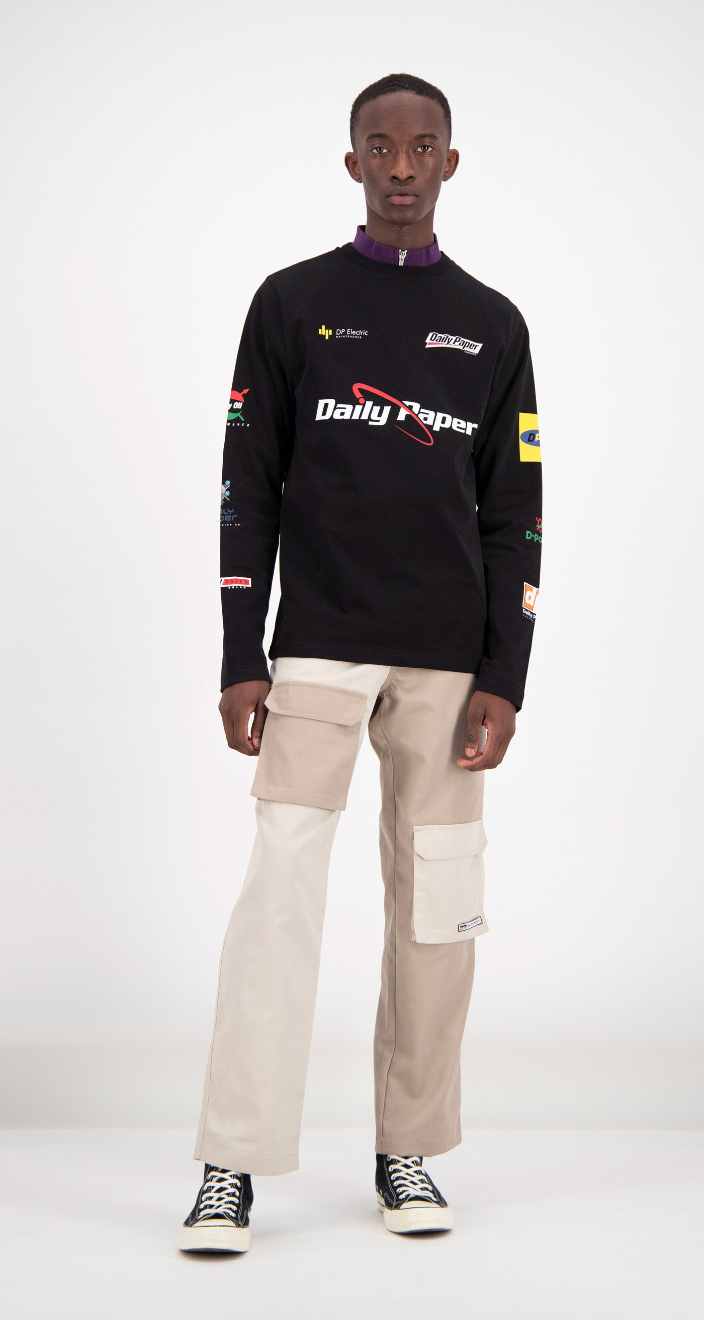 Daily Paper - Black Feff Logo Longsleeve Men