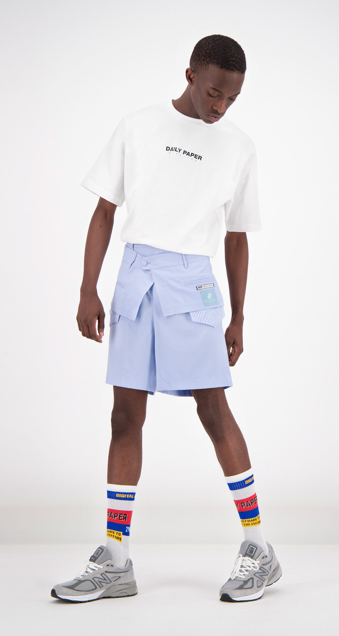 Daily Paper - Blue Farus Shorts Men