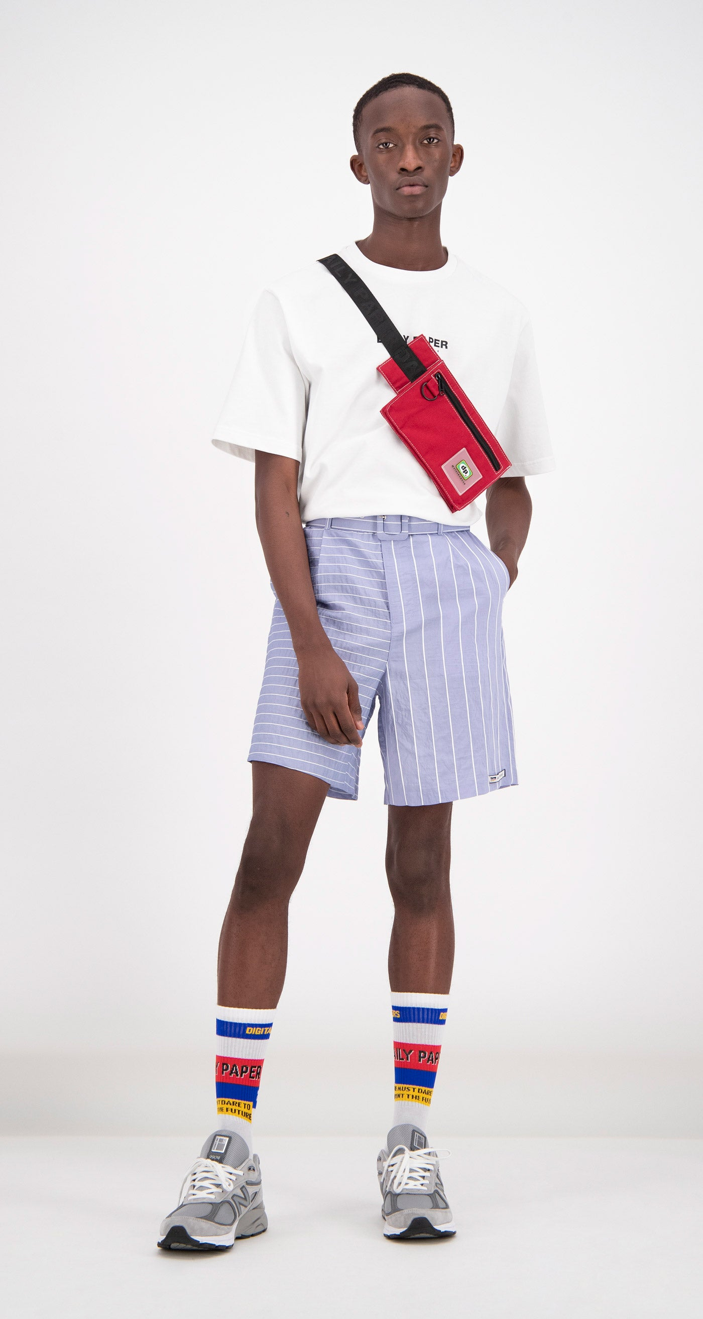Daily Paper - Blue Striped Fori Shorts Men
