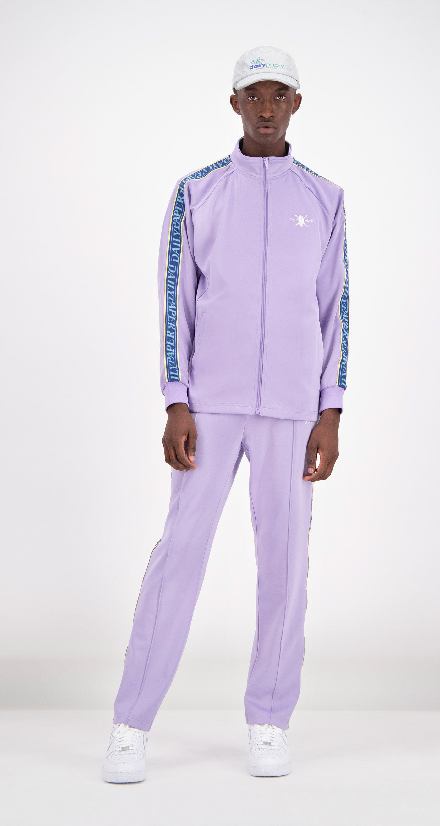 Daily Paper - Lilac Tapevest Track Top Men Front