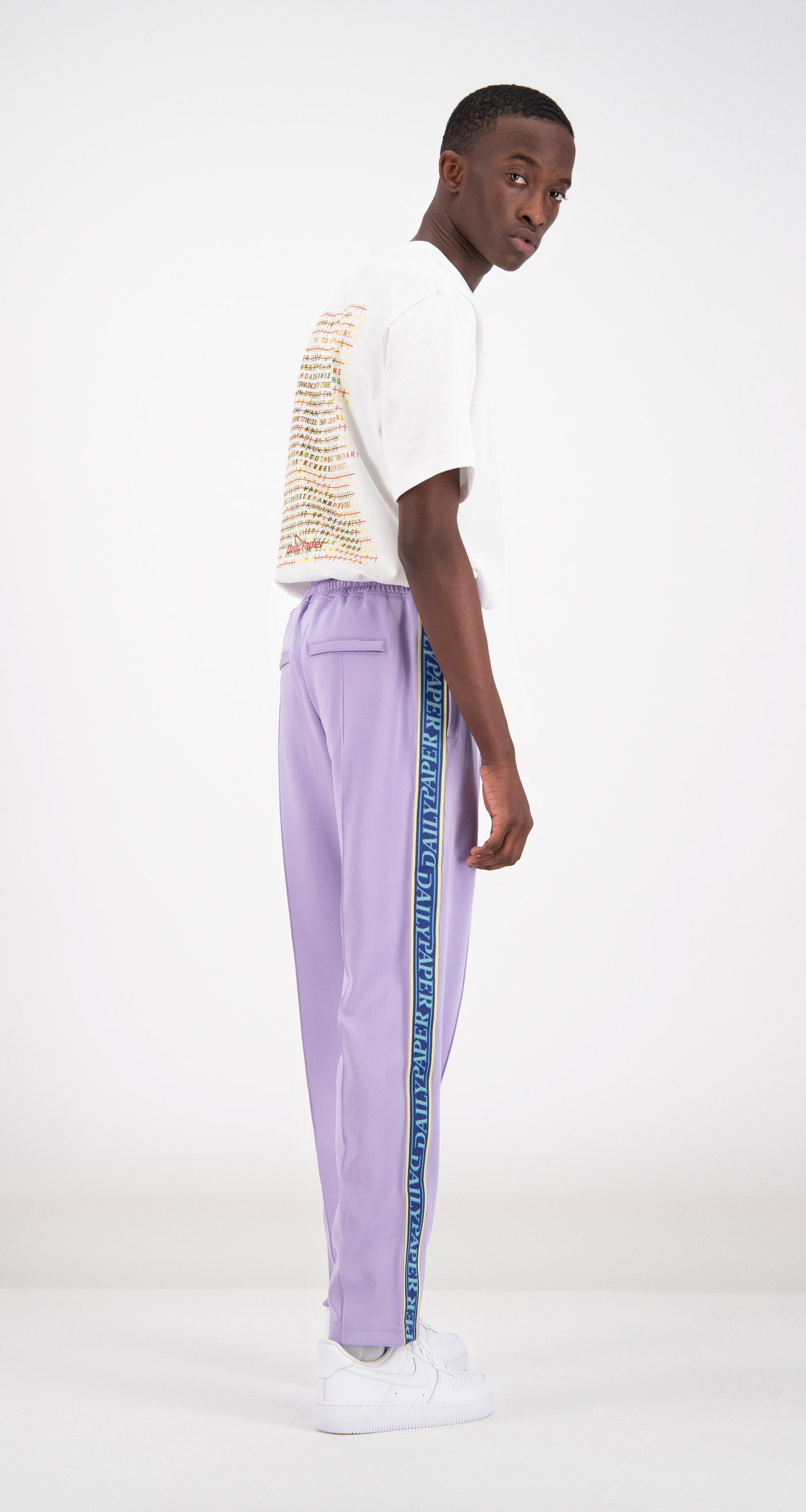 Daily Paper - Lilac Liba Track Pants Men Rear