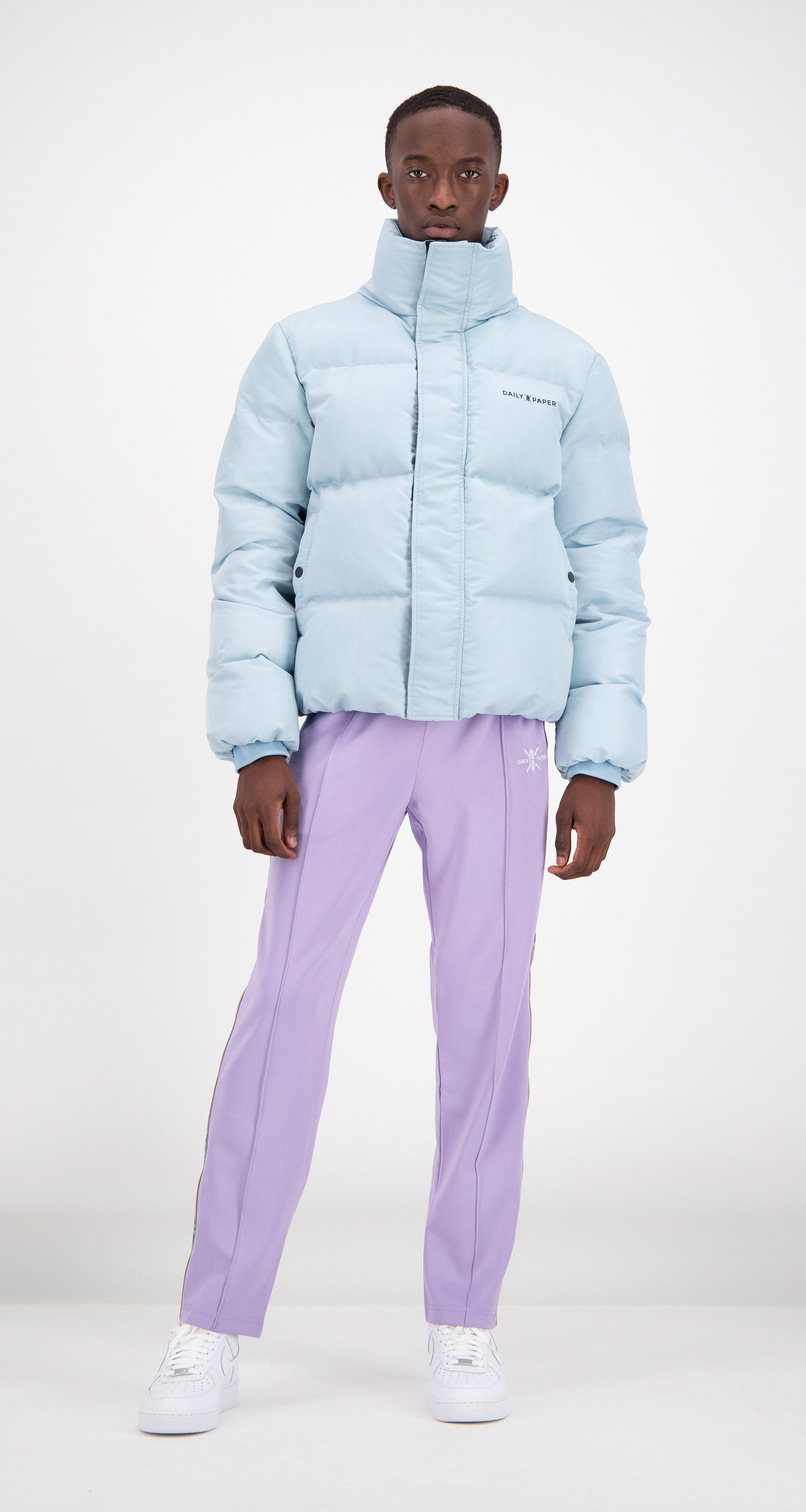 Daily Paper - Light Blue Puffer Jacket Men