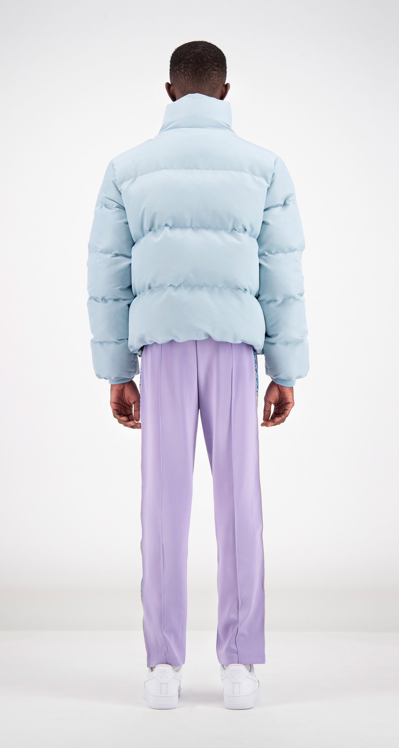 Daily Paper - Light Blue Puffer Jacket Men Rear