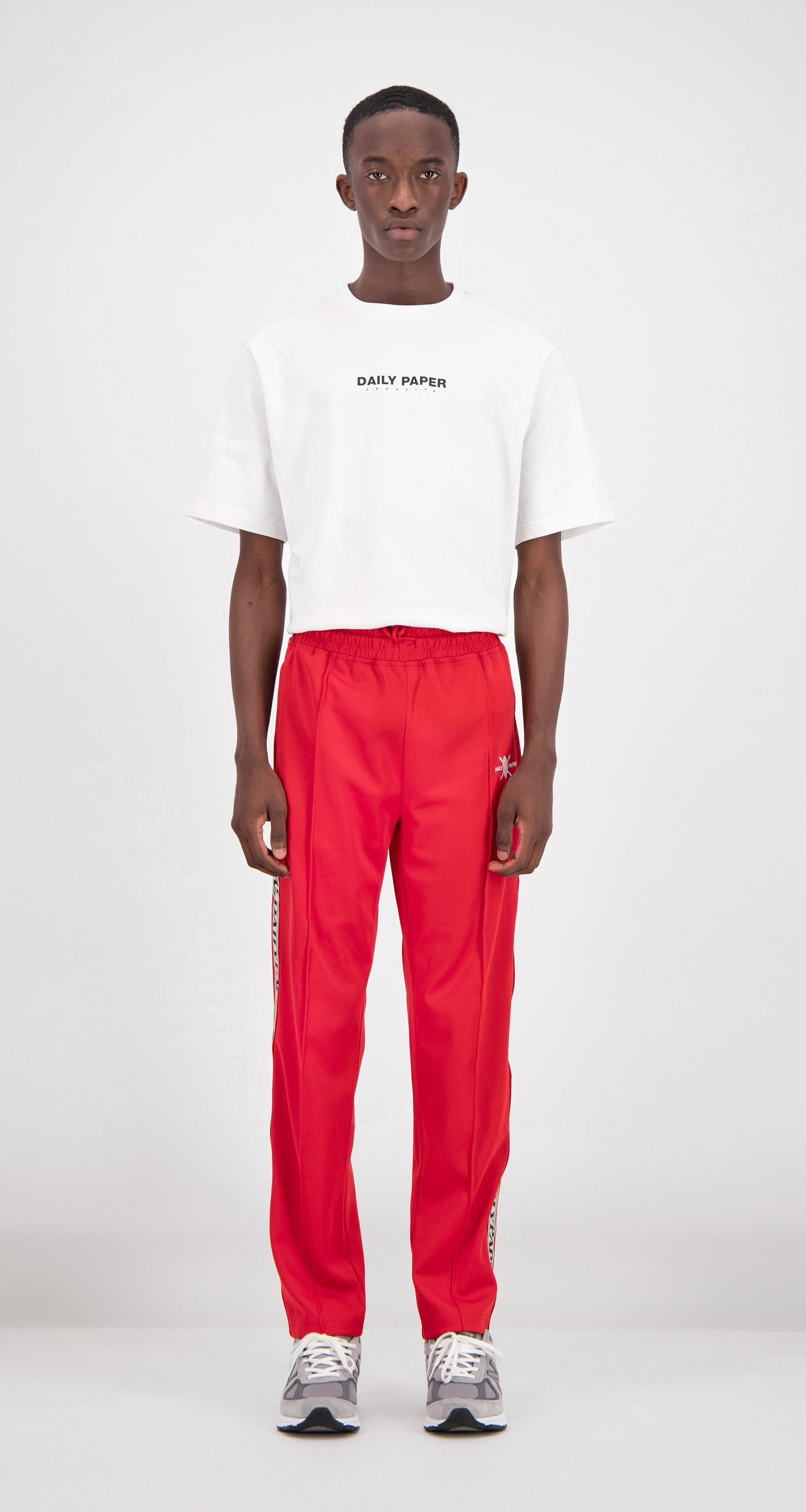Daily Paper - Red Liba Track Pants Men Front