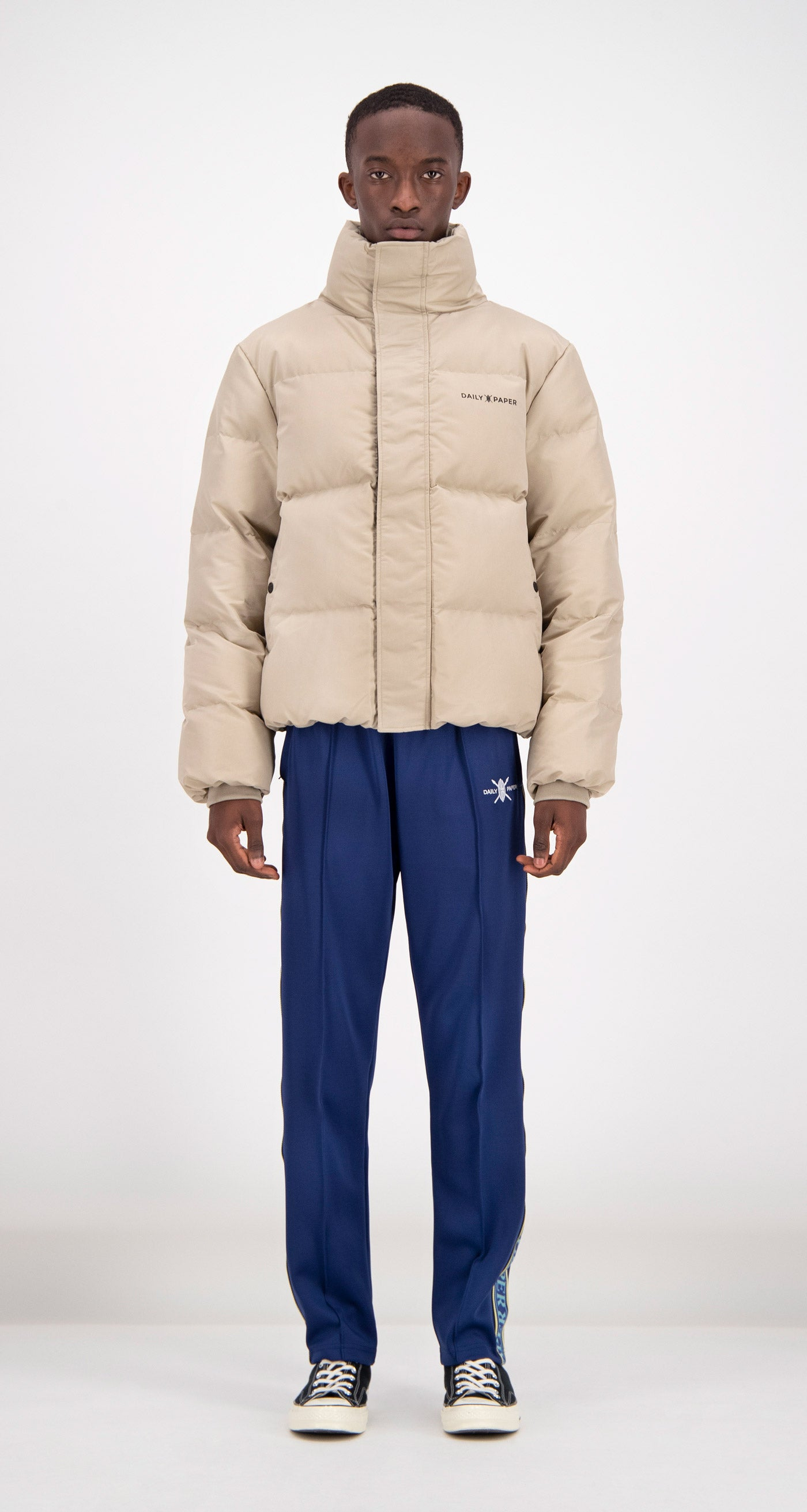 Daily Paper - Beige Puffer Jacket Men Front
