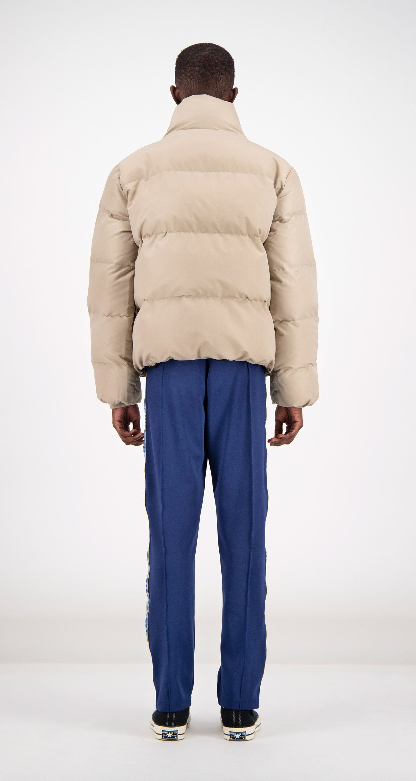 Daily Paper - Beige Puffer Jacket Rear Men
