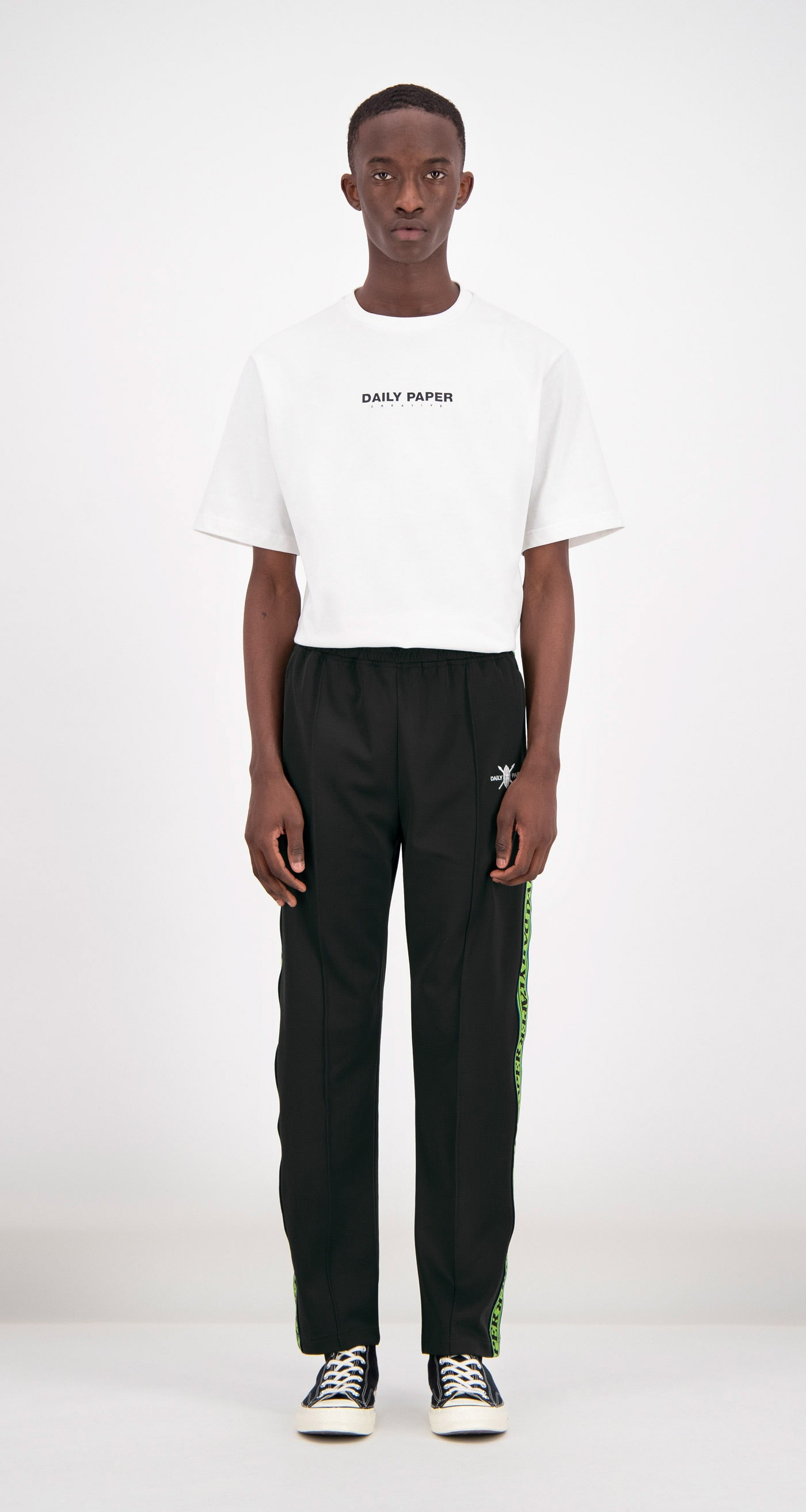 Daily Paper - Black Liba Track Pants Men Front