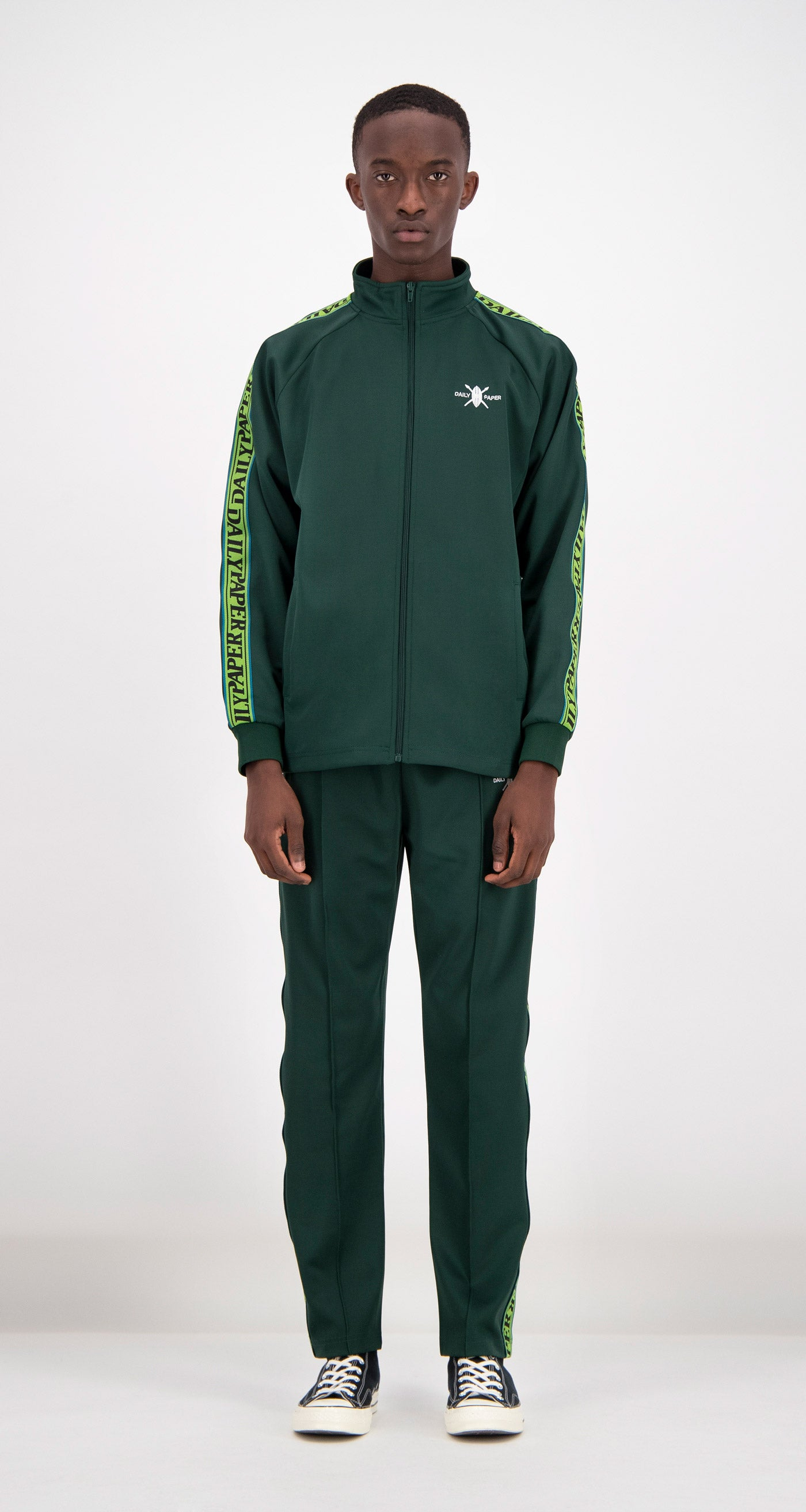 Daily Paper - Green Tapevest Track Top Men Front
