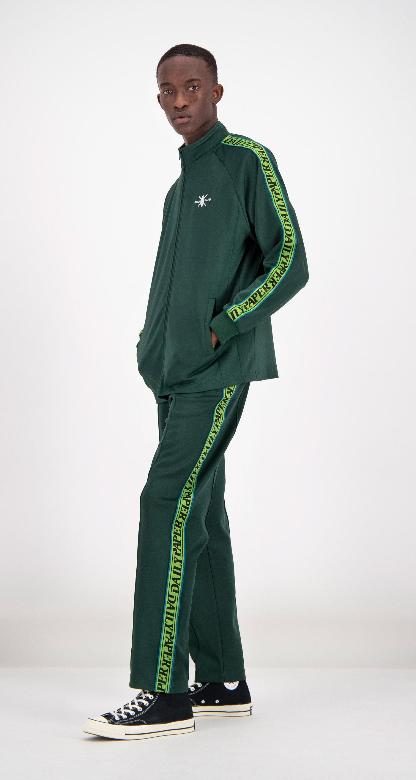 Daily Paper - Green Tapevest Track Top Men