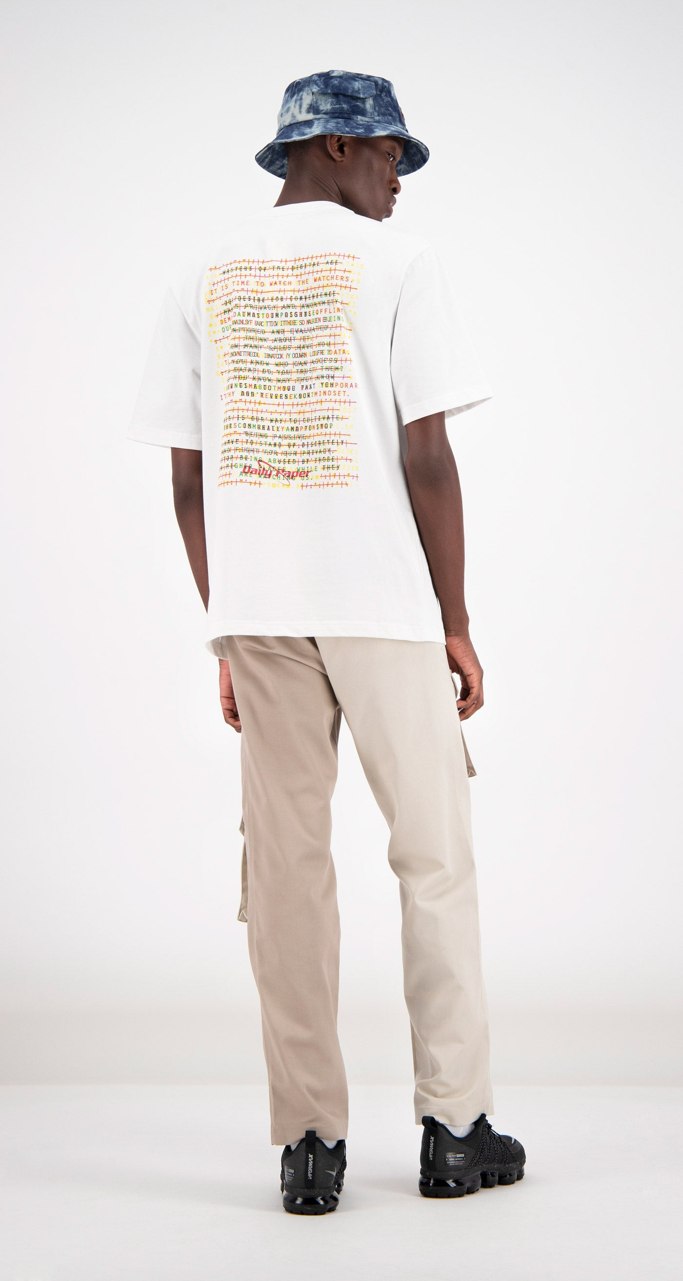 Daily Paper - White Farid T-shirt Men Rear