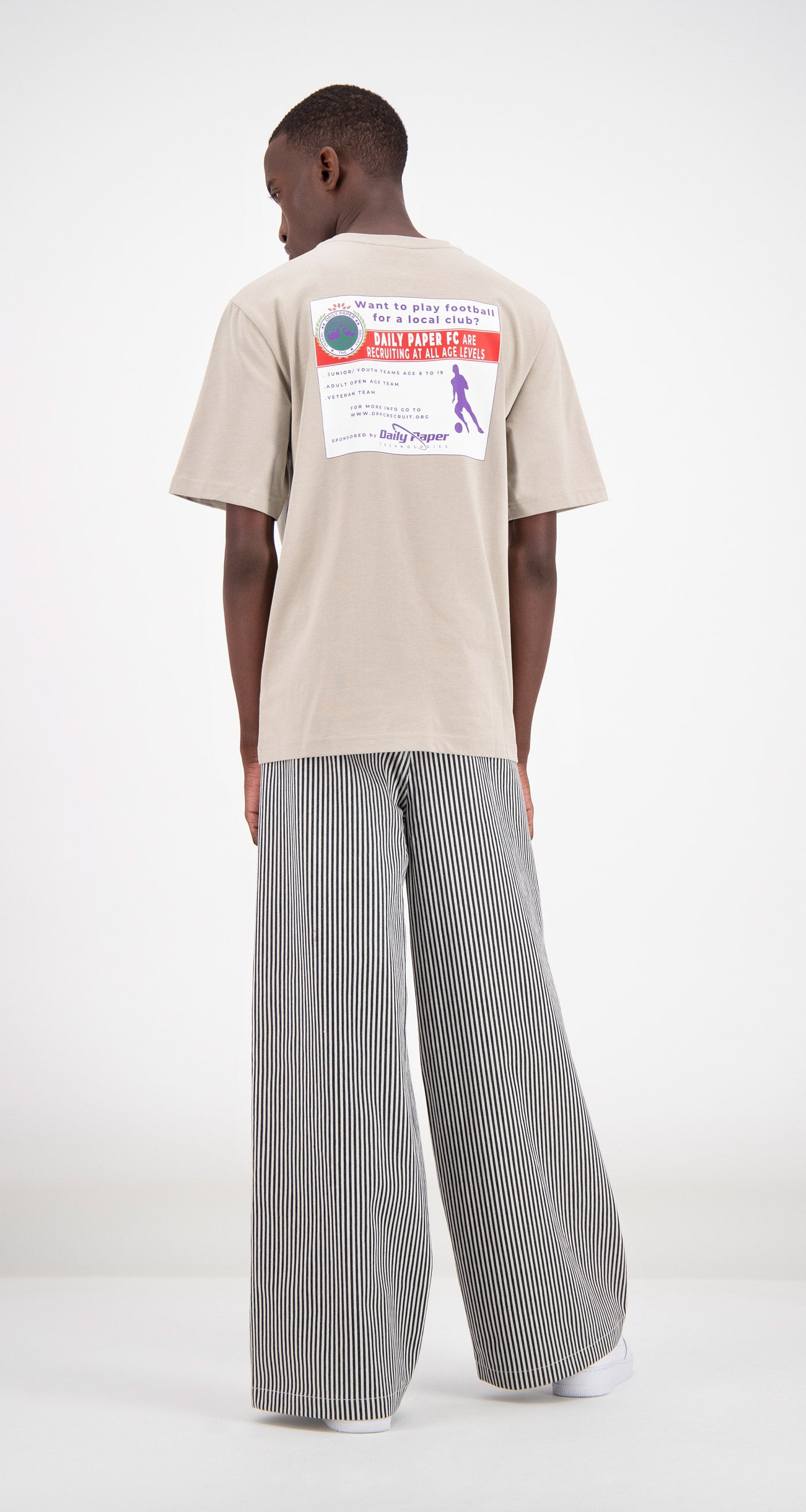 Daily Paper - Sand Fadhil T-Shirt Men Rear