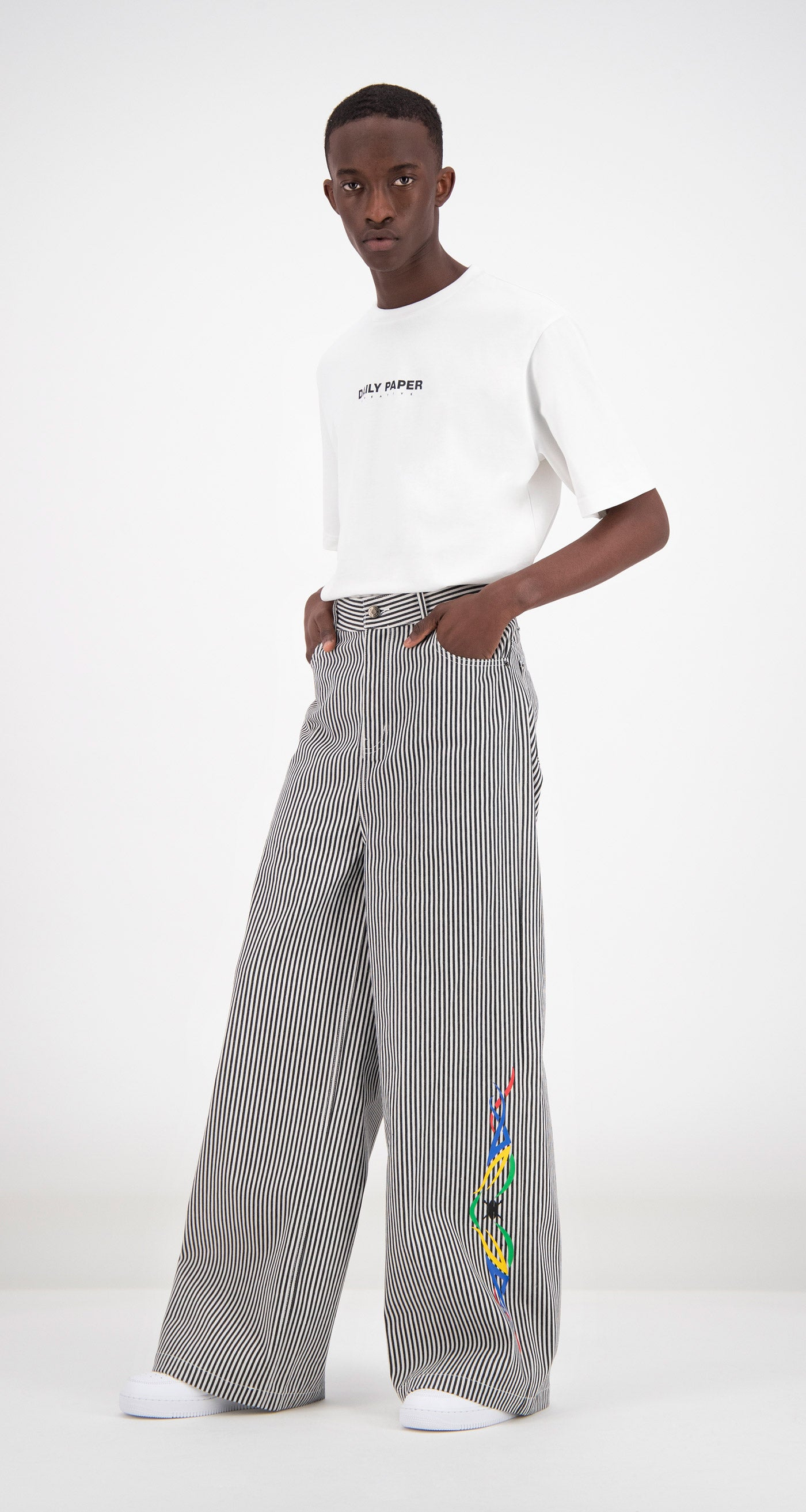 Daily Paper - Striped Fikir Wide Leg Pants Men