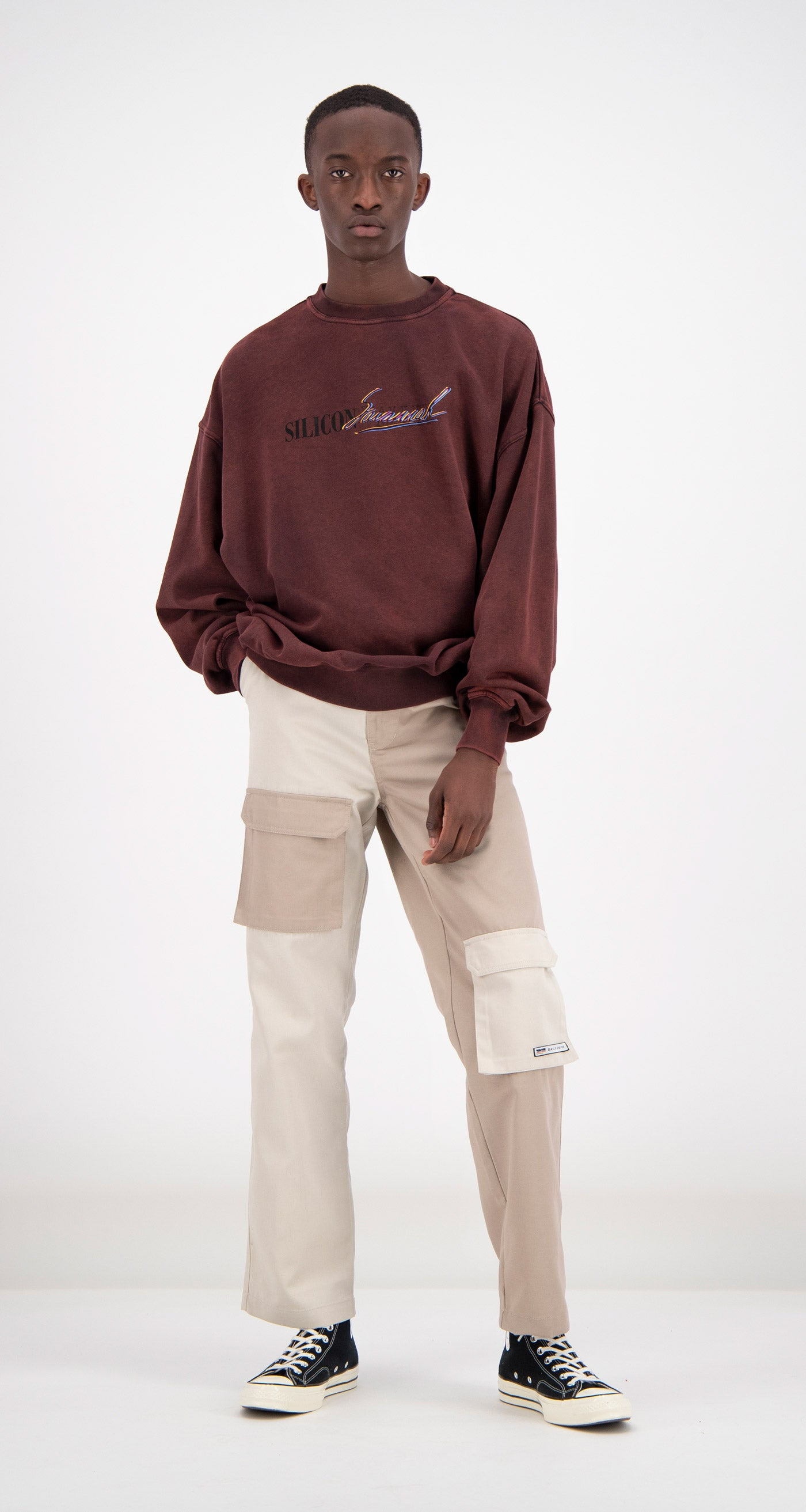 Daily Paper - Mahogany Fadu Oversized Sweater Men
