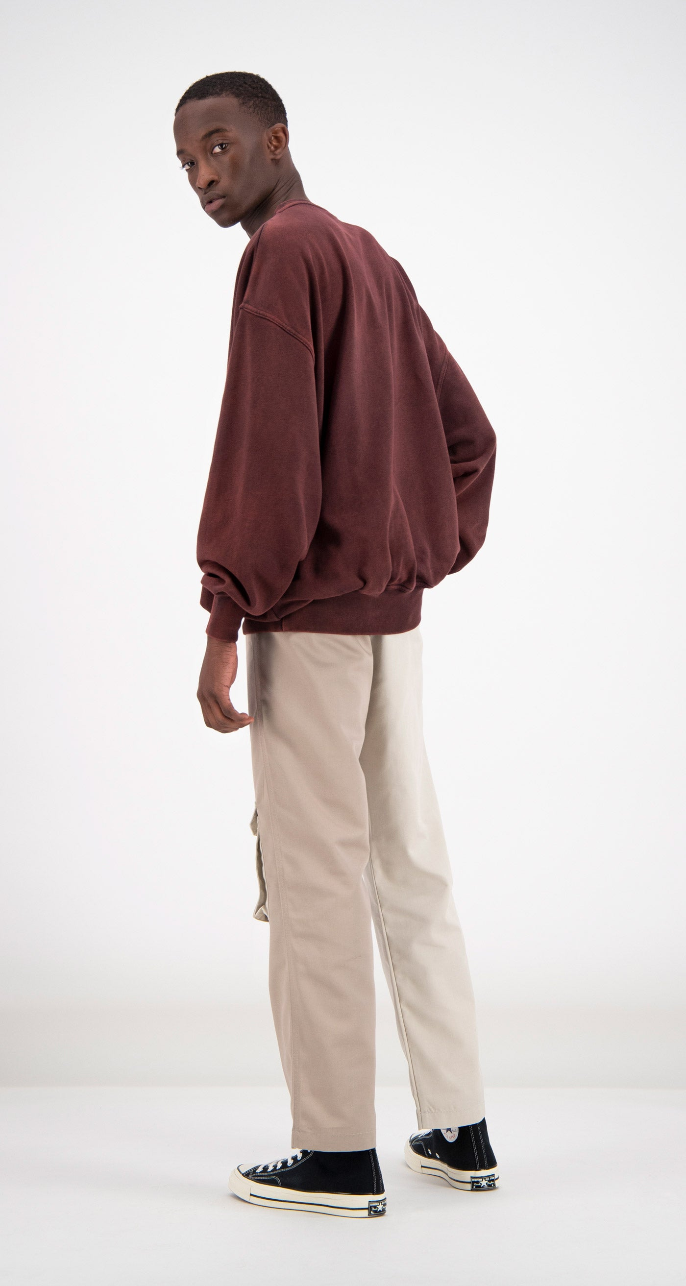 Daily Paper - Mahogany Fadu Oversized Sweater Men Rear