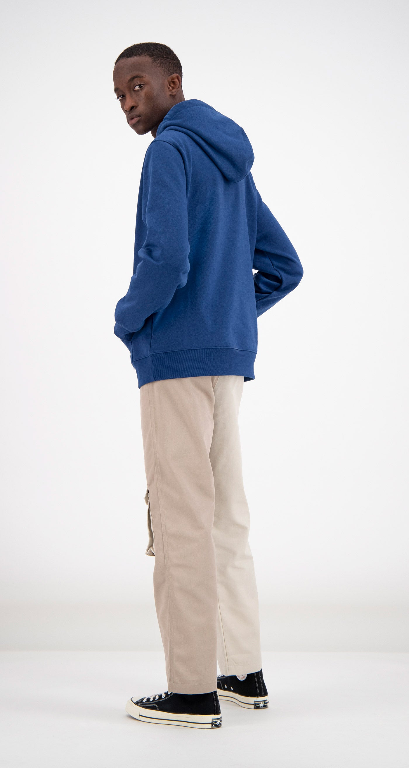 Daily Paper - Blue Fedde Hoodie Men Rear