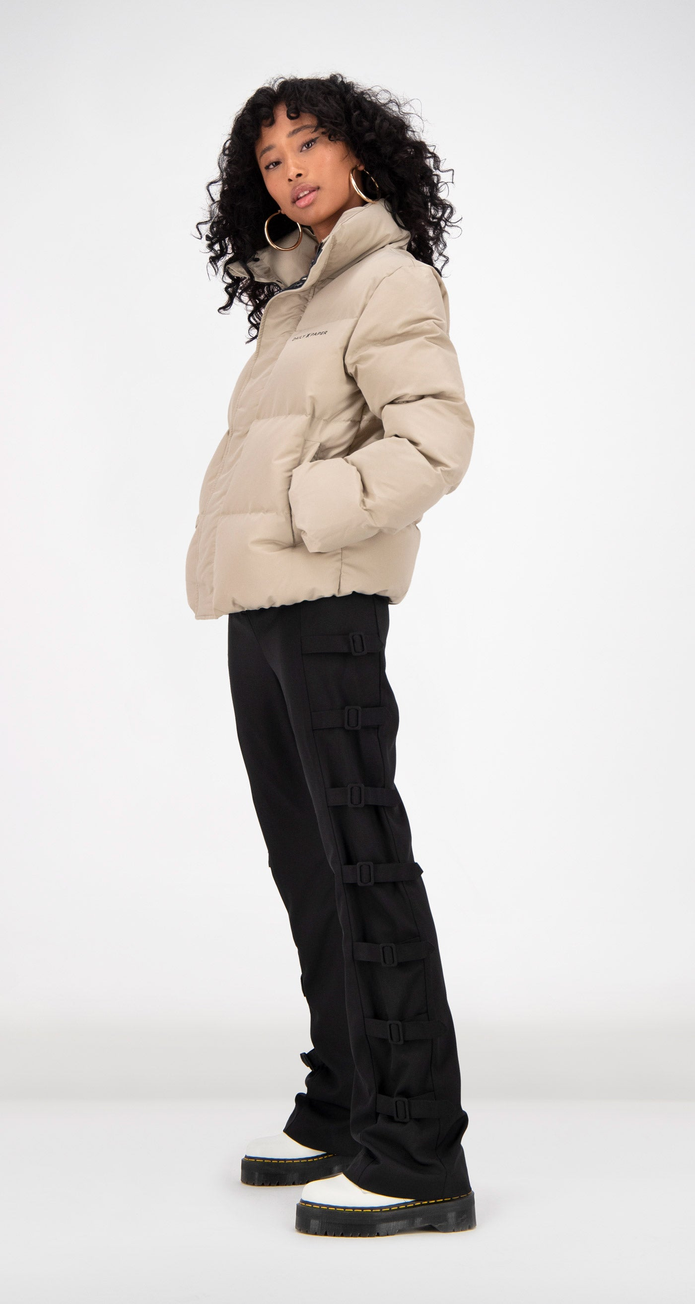 Daily Paper - Beige Puffer Jacket Women