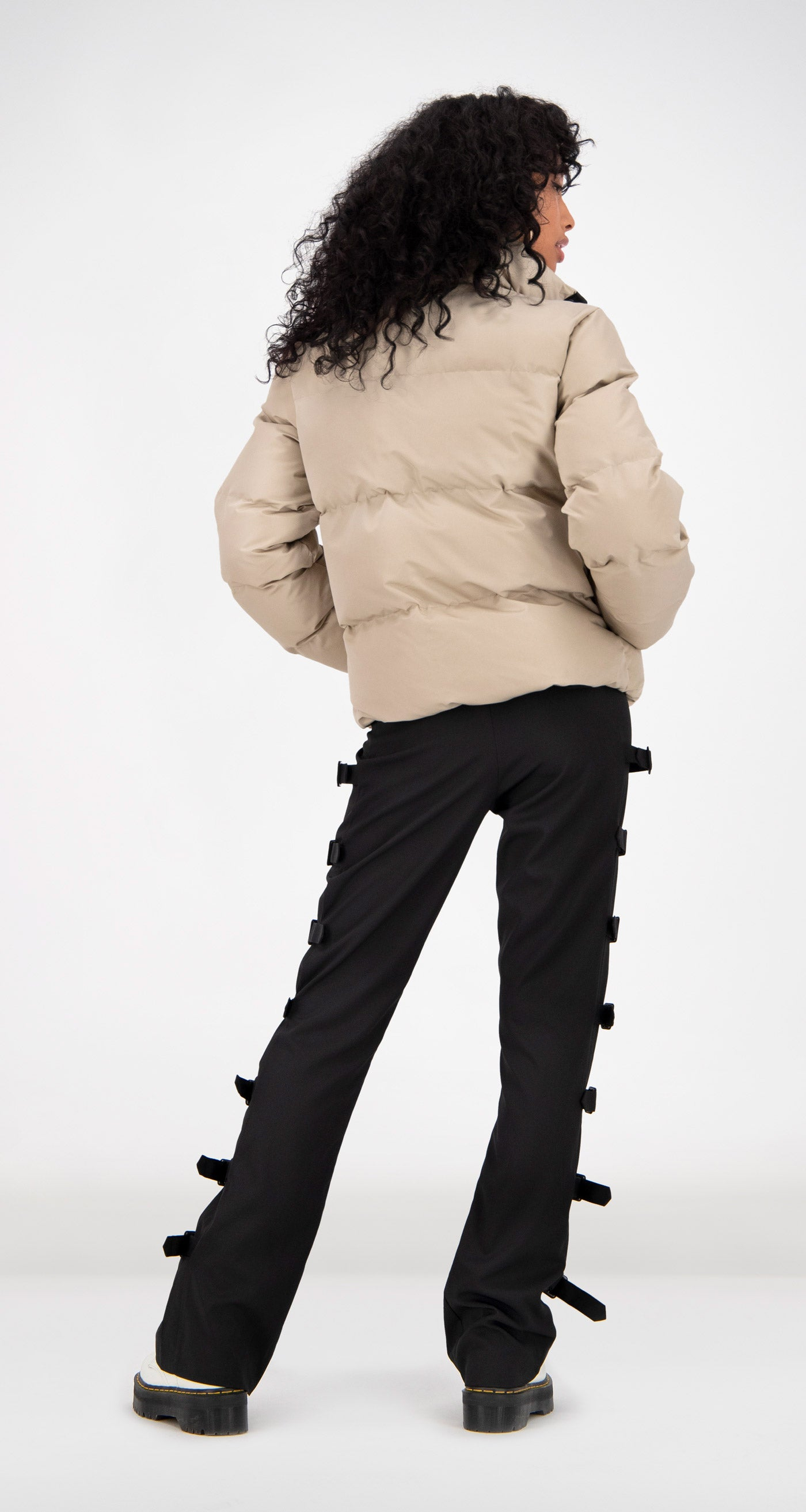 Daily Paper - Beige Puffer Jacket Rear Women