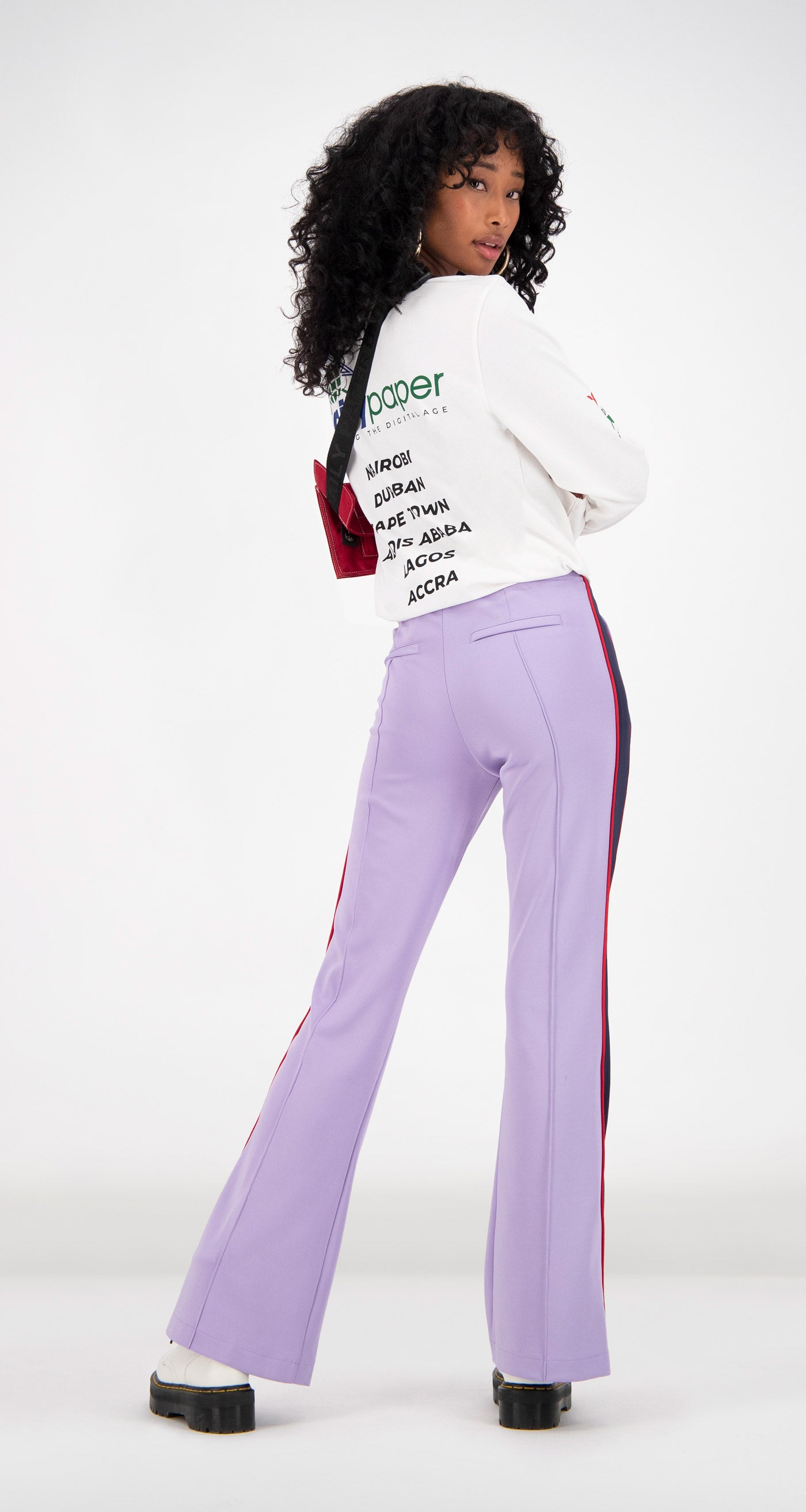 Daily Paper - White Feff Logo Longsleeve Women Rear