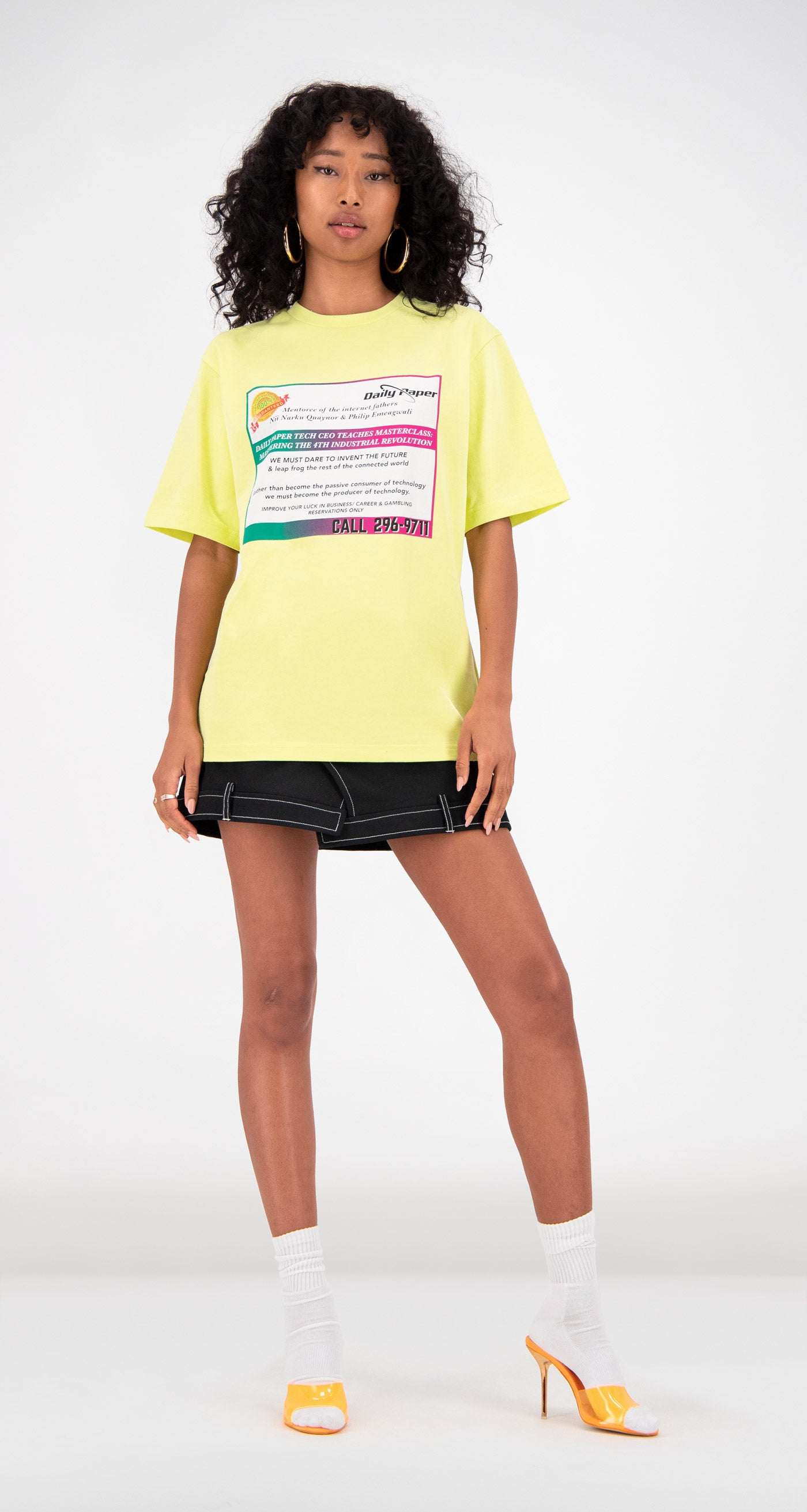 Daily Paper - Yellow Fabunni T-Shirt Women Front