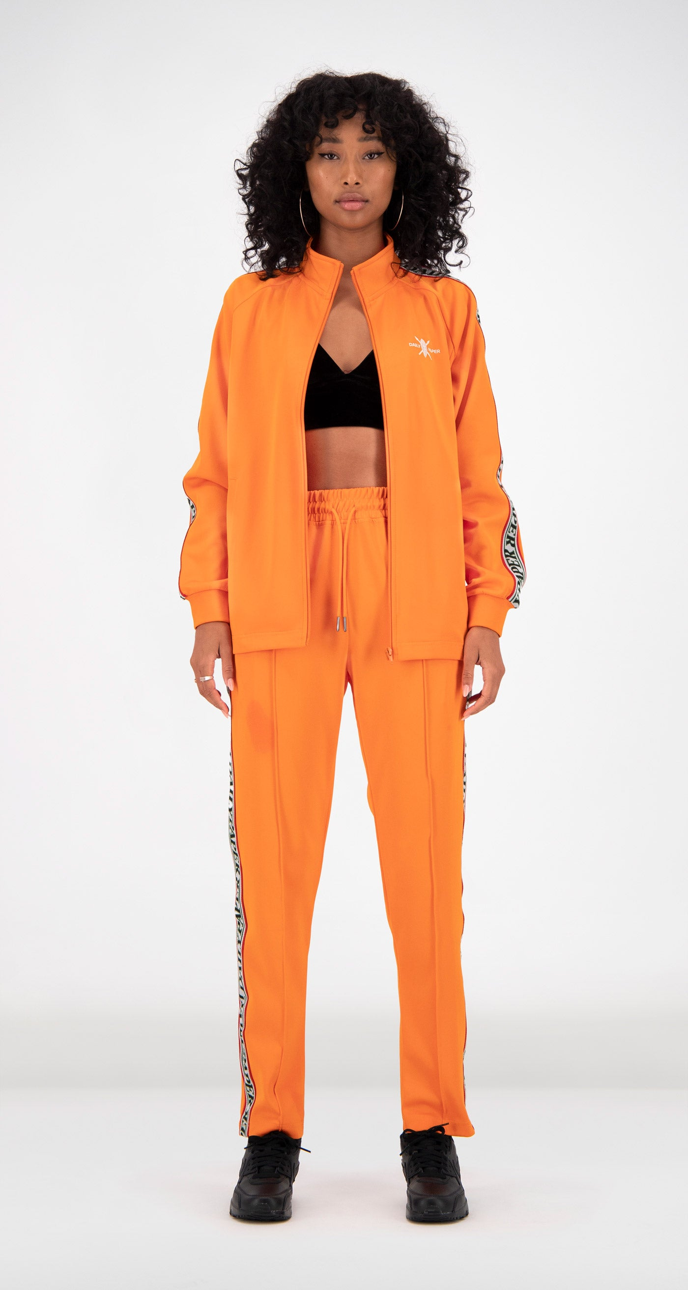 Daily Paper - Orange Tapevest Track Top Women Front
