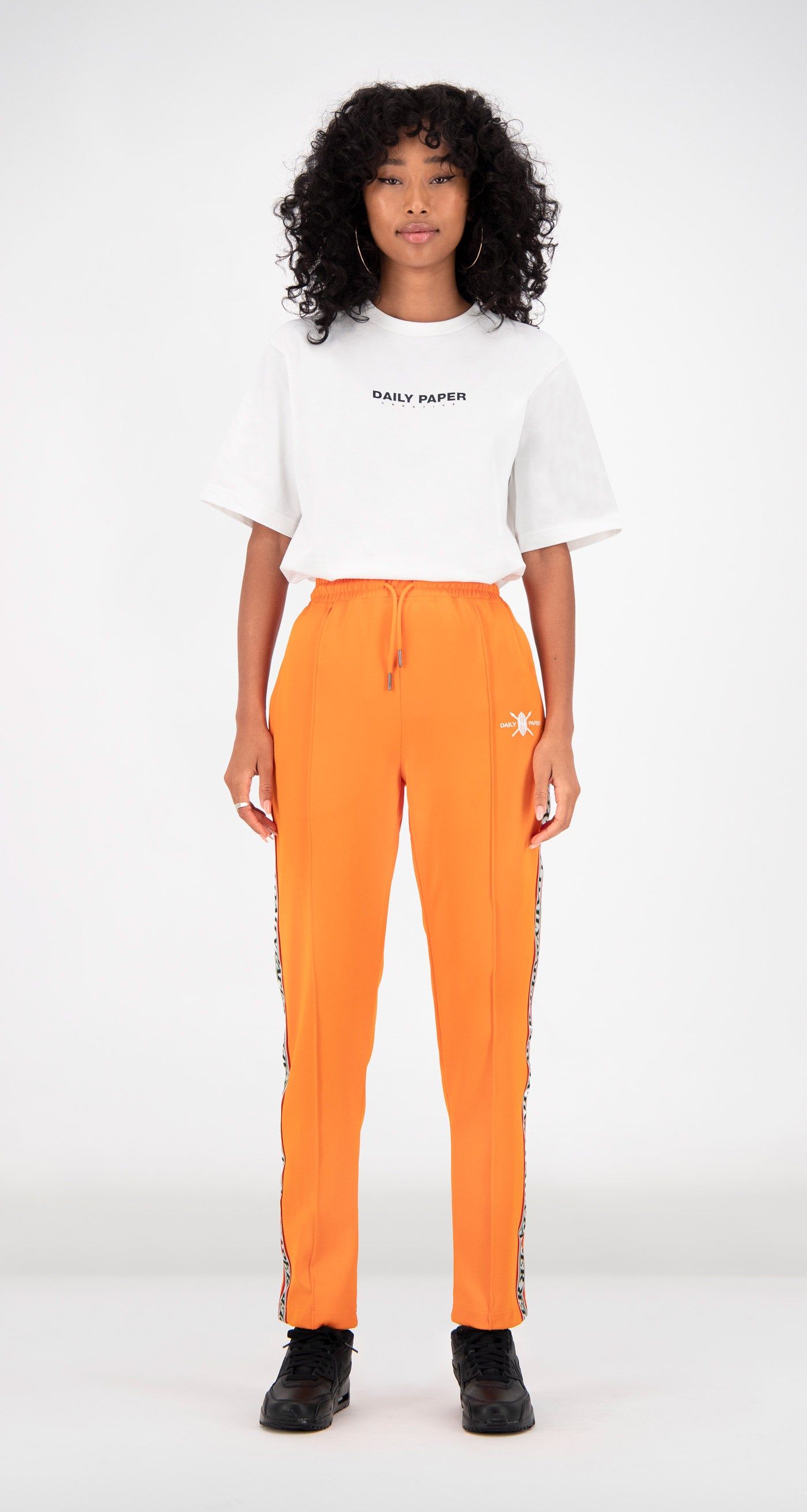 Daily Paper - Orange Liba Track Pants Women Front
