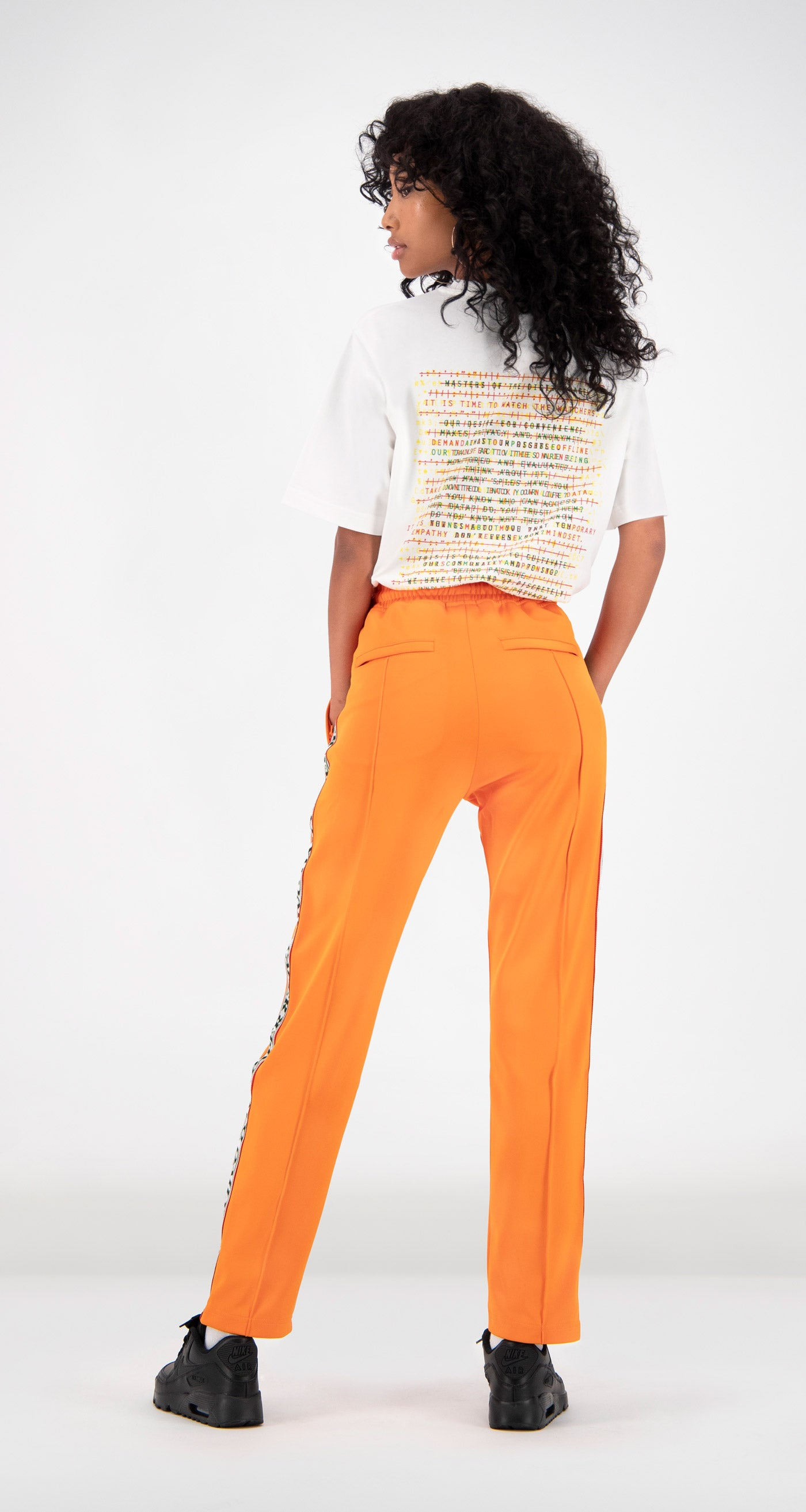 Daily Paper - Orange Liba Track Pants Women Rear