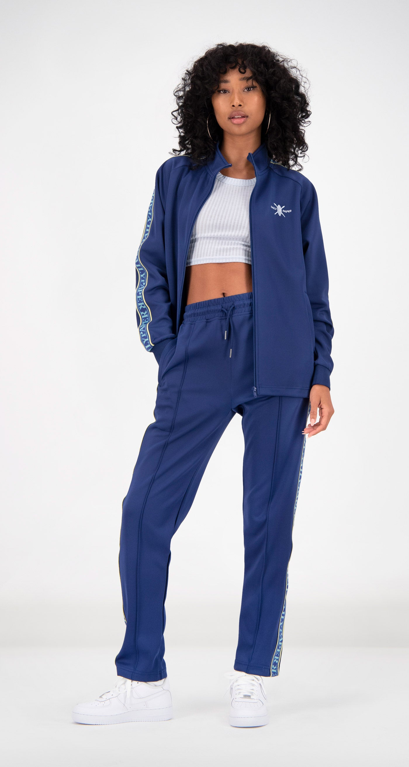 Daily Paper - Blue Tapevest Track Top Women Front