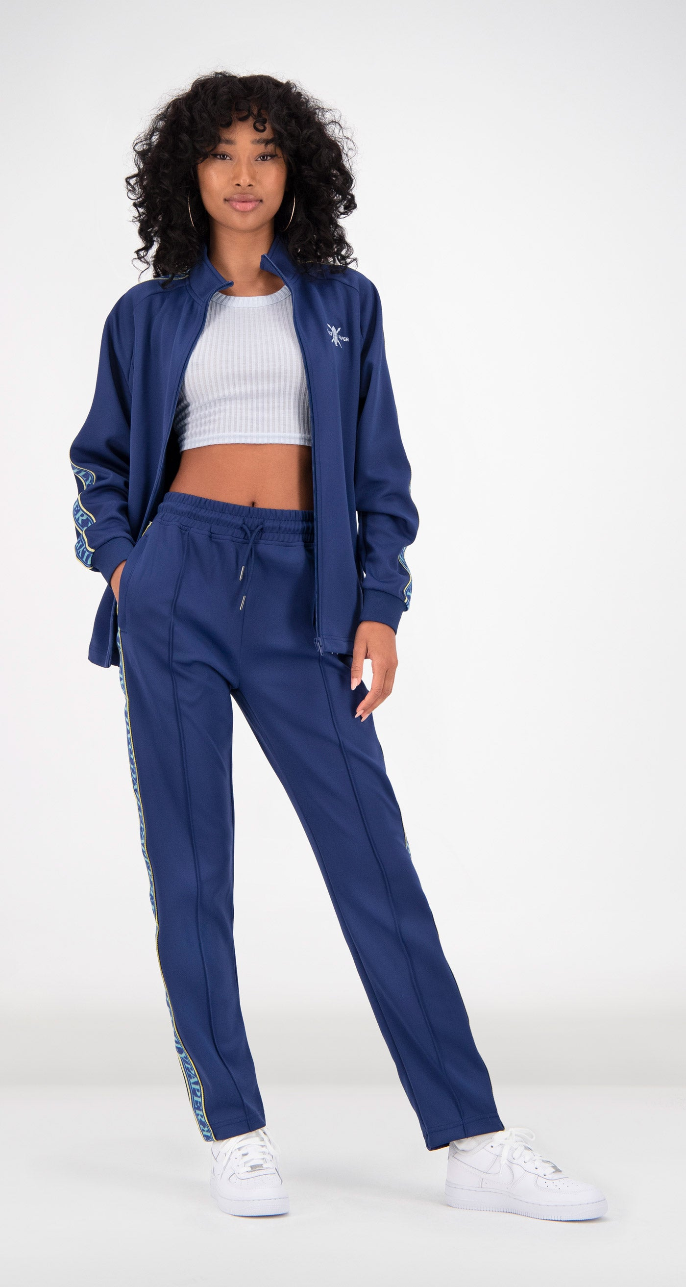 Daily Paper - Blue Tapevest Track Top Women