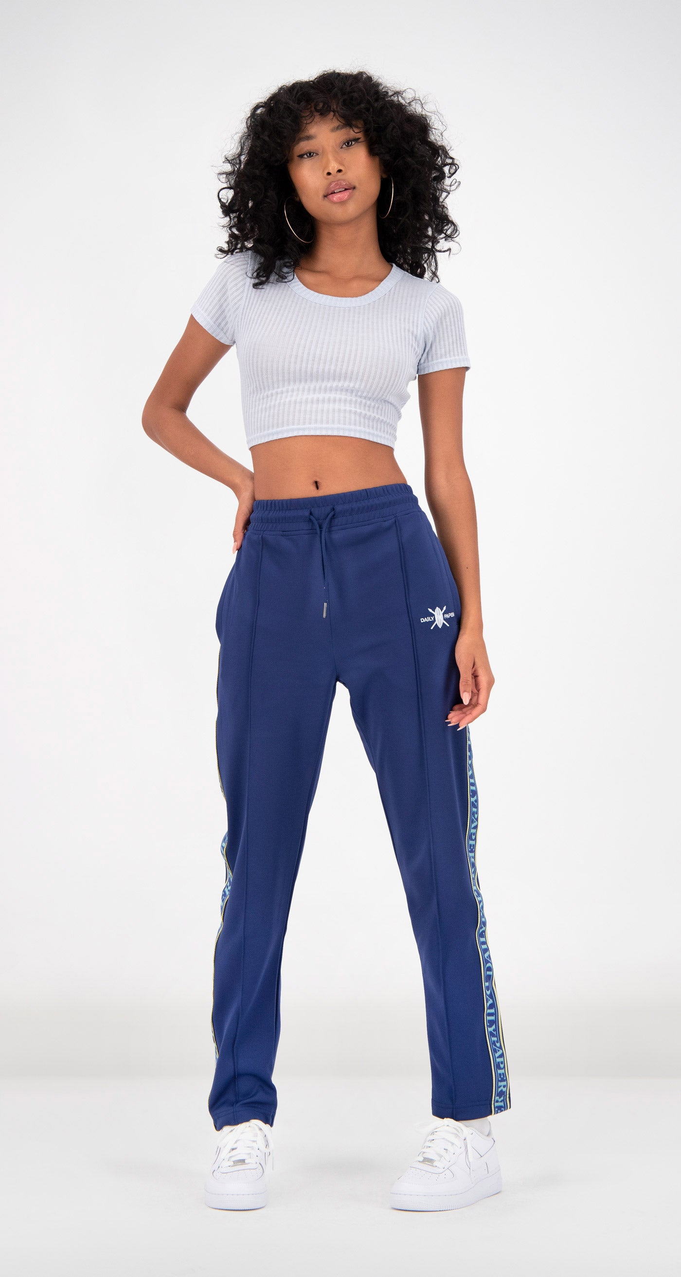 Daily Paper - Blue Liba Track Pants Women Front