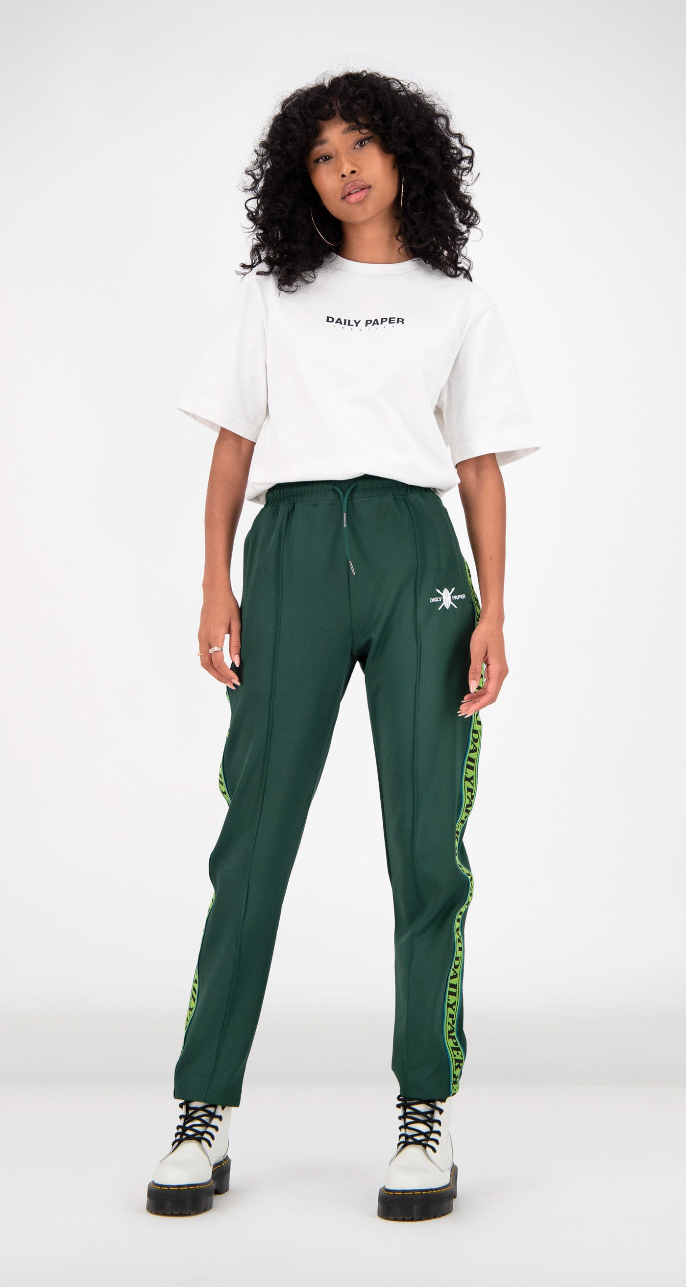 Daily Paper - Green Liba Track Pants Women Front