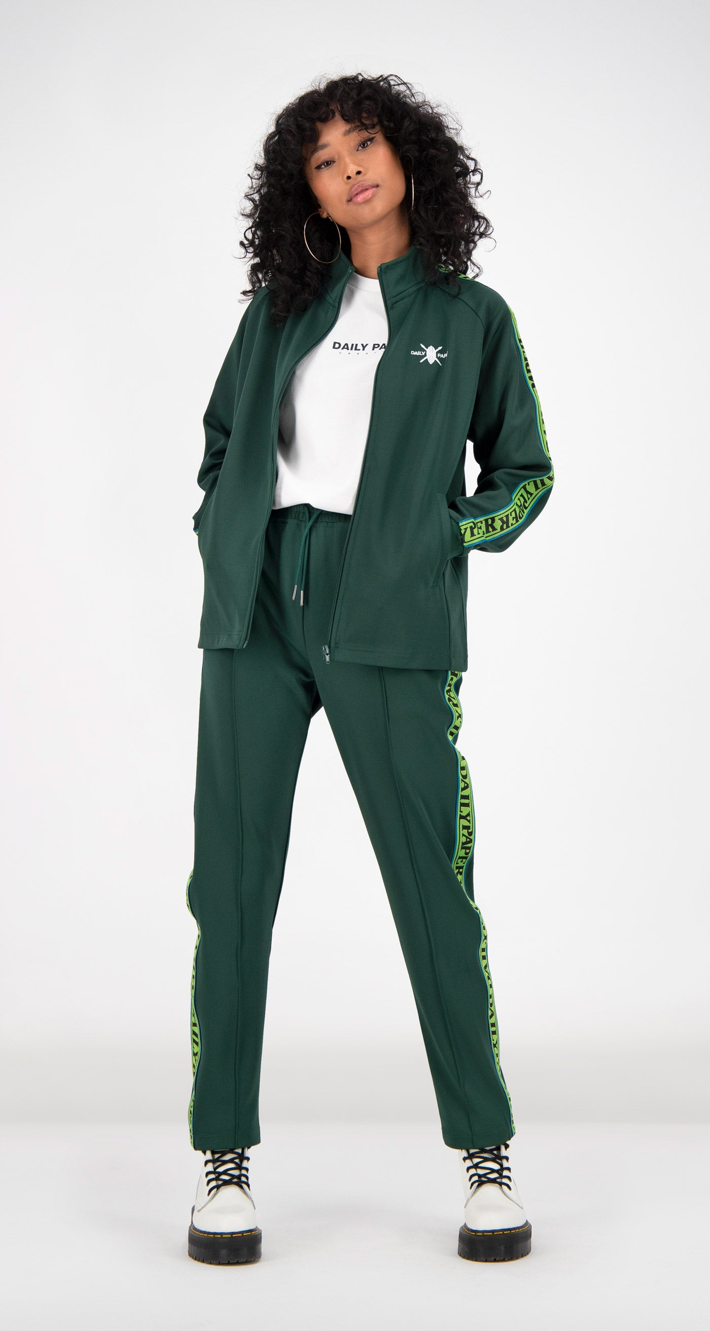 Daily Paper - Green Tapevest Track Top Women Front