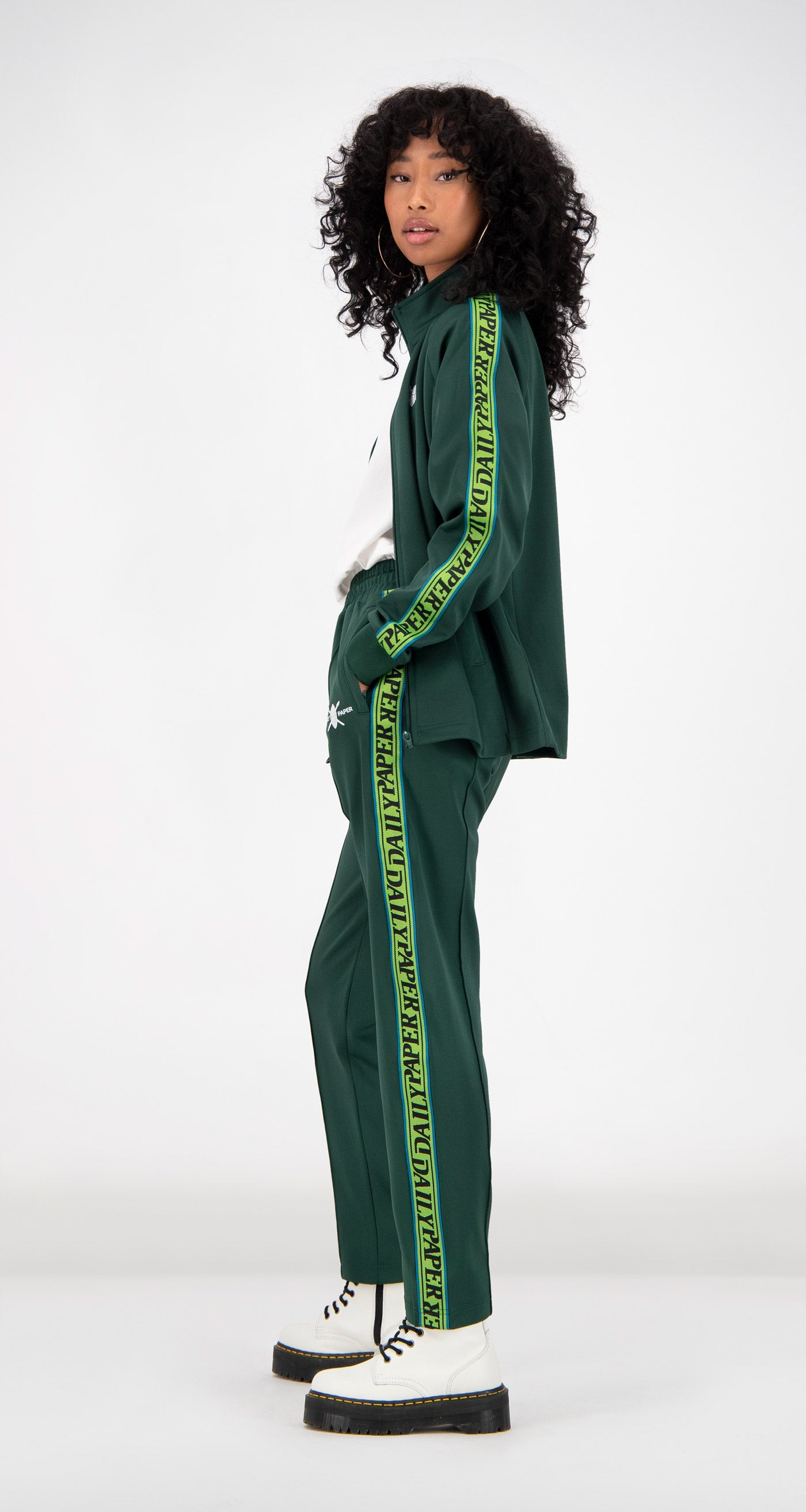 Daily Paper - Green Tapevest Track Top Women