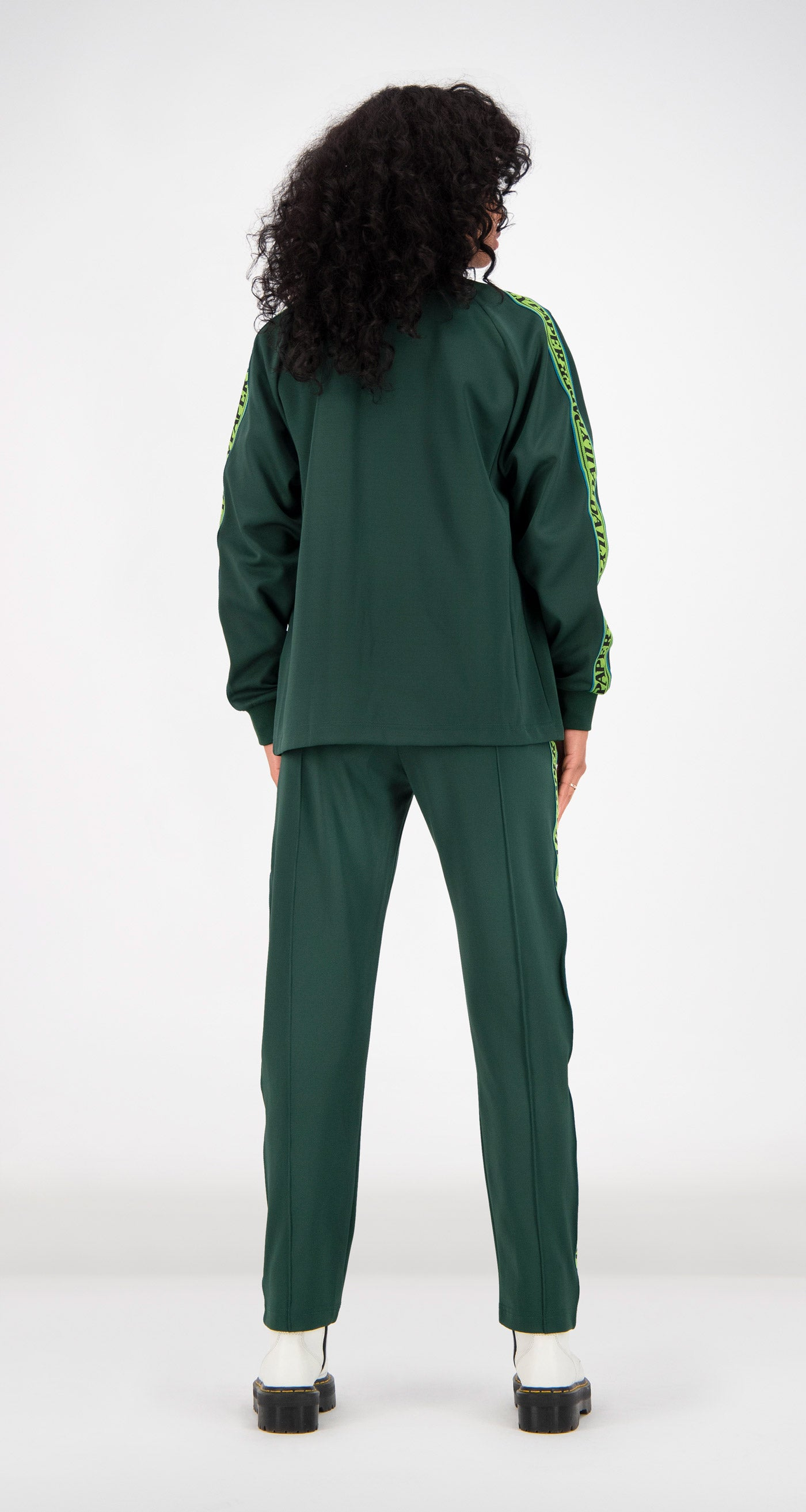 Daily Paper - Green Tapevest Track Top Women Rear