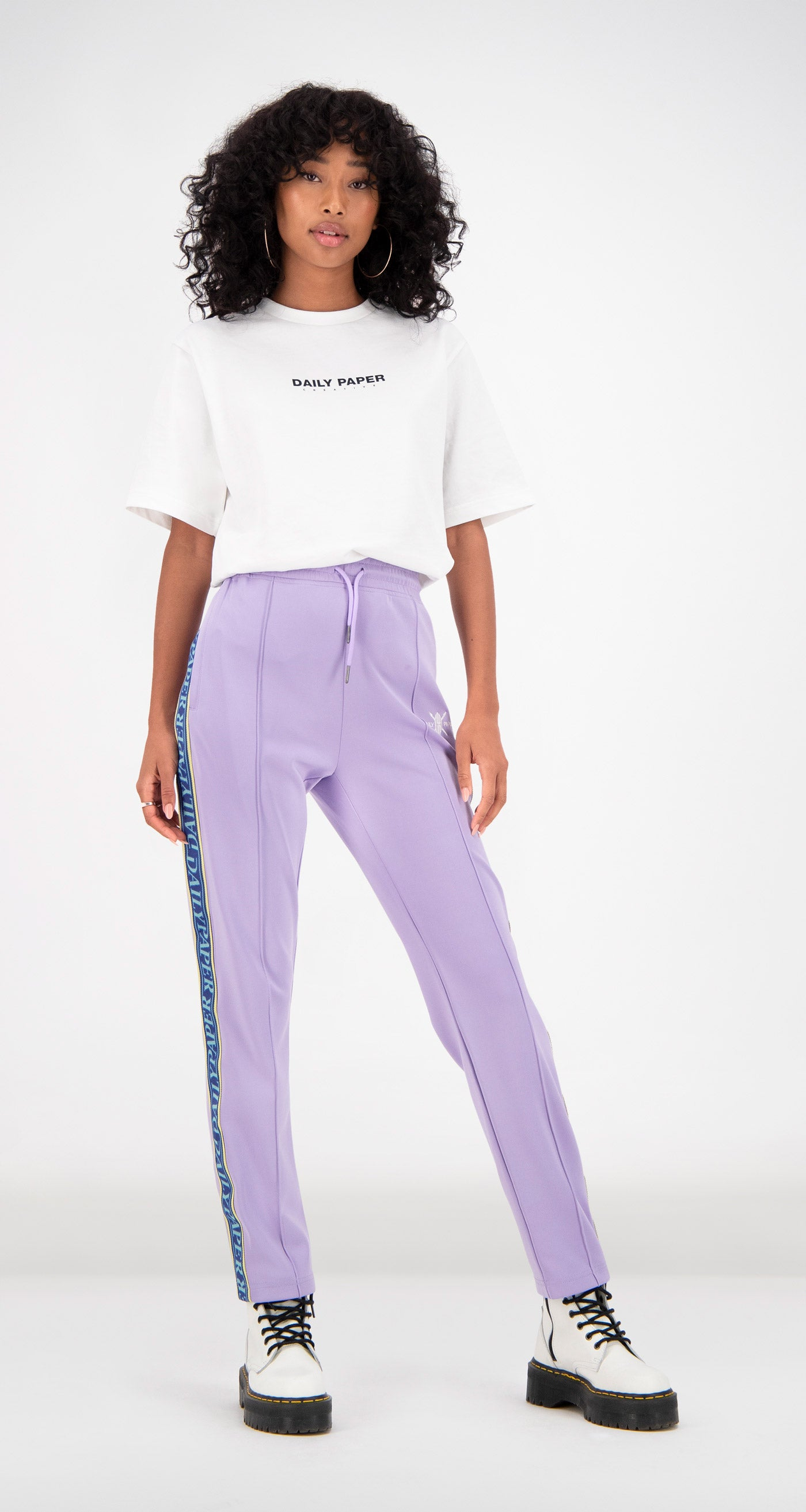Daily Paper - Lilac Liba Track Pants Women Front