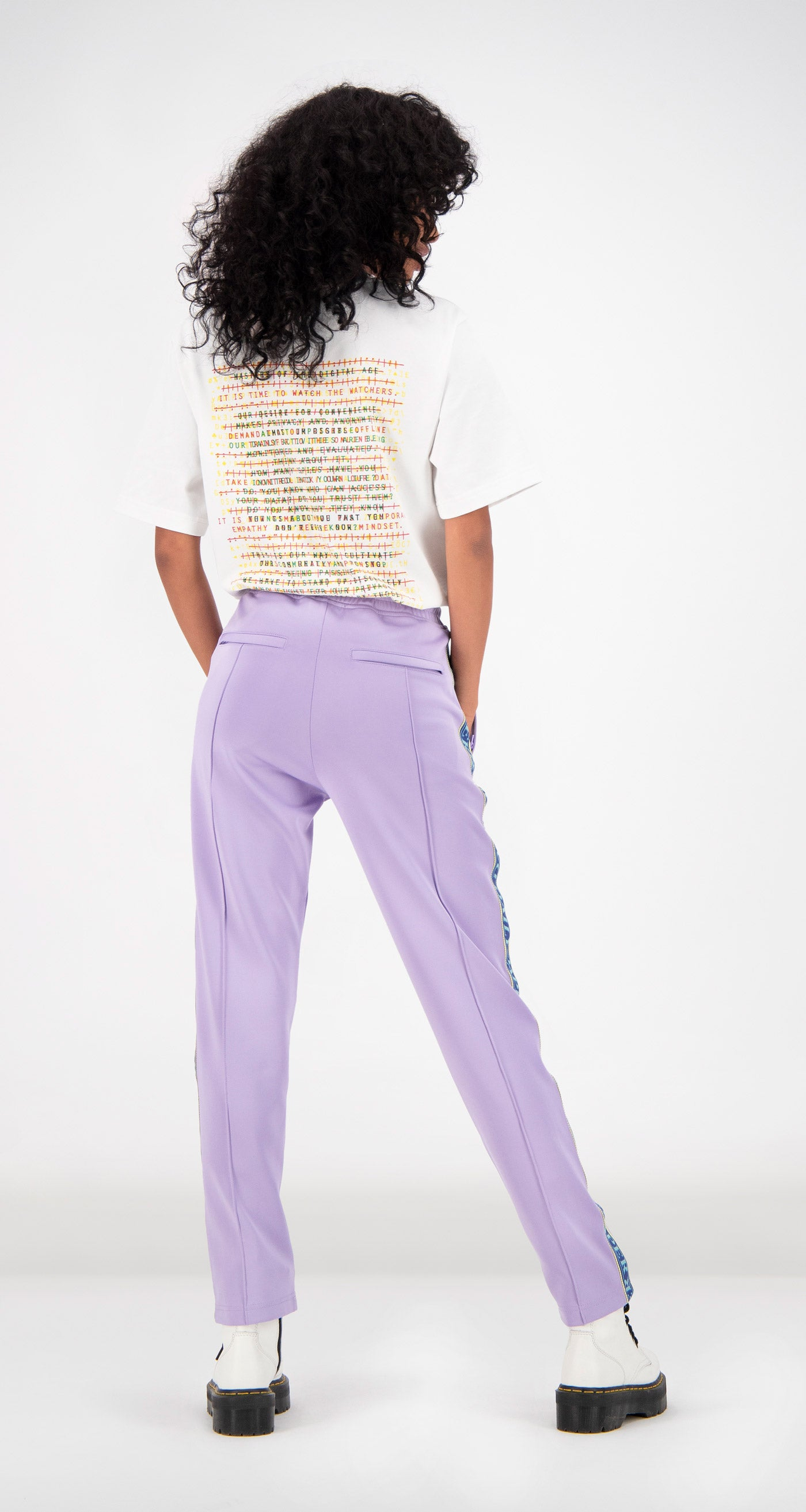 Daily Paper - Lilac Liba Track Pants Women Rear