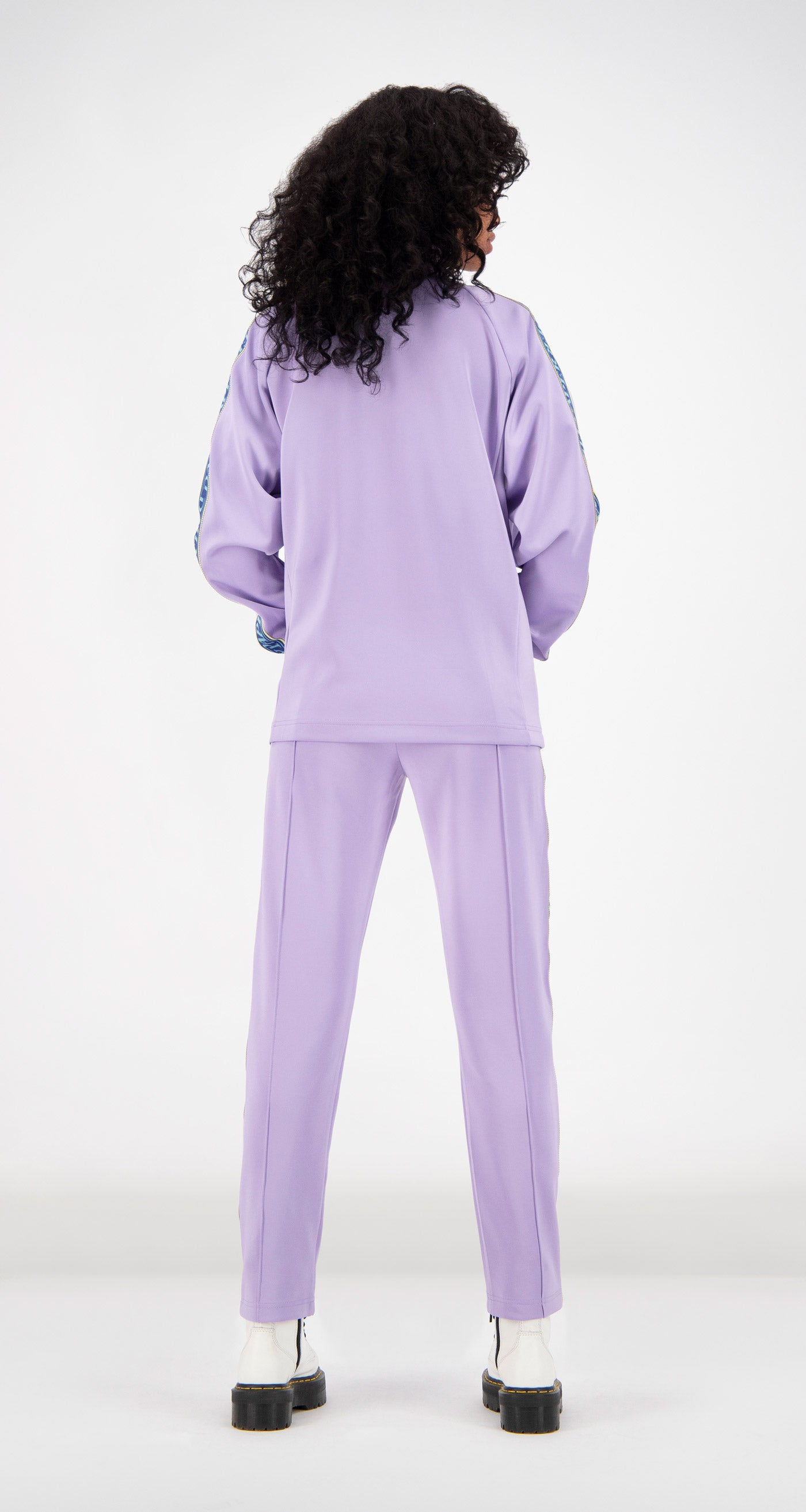 Daily Paper - Lilac Tapevest Track Top Women Rear
