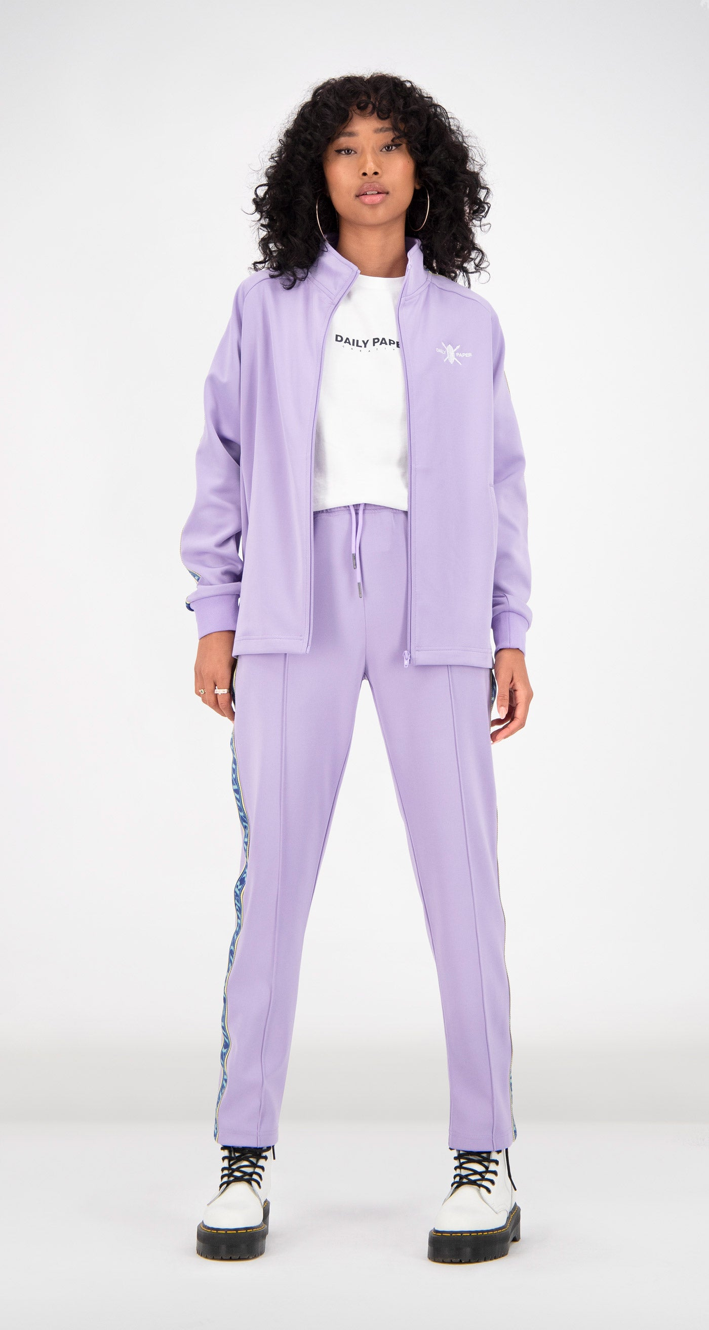 Daily Paper - Lilac Tapevest Track Top Women Front