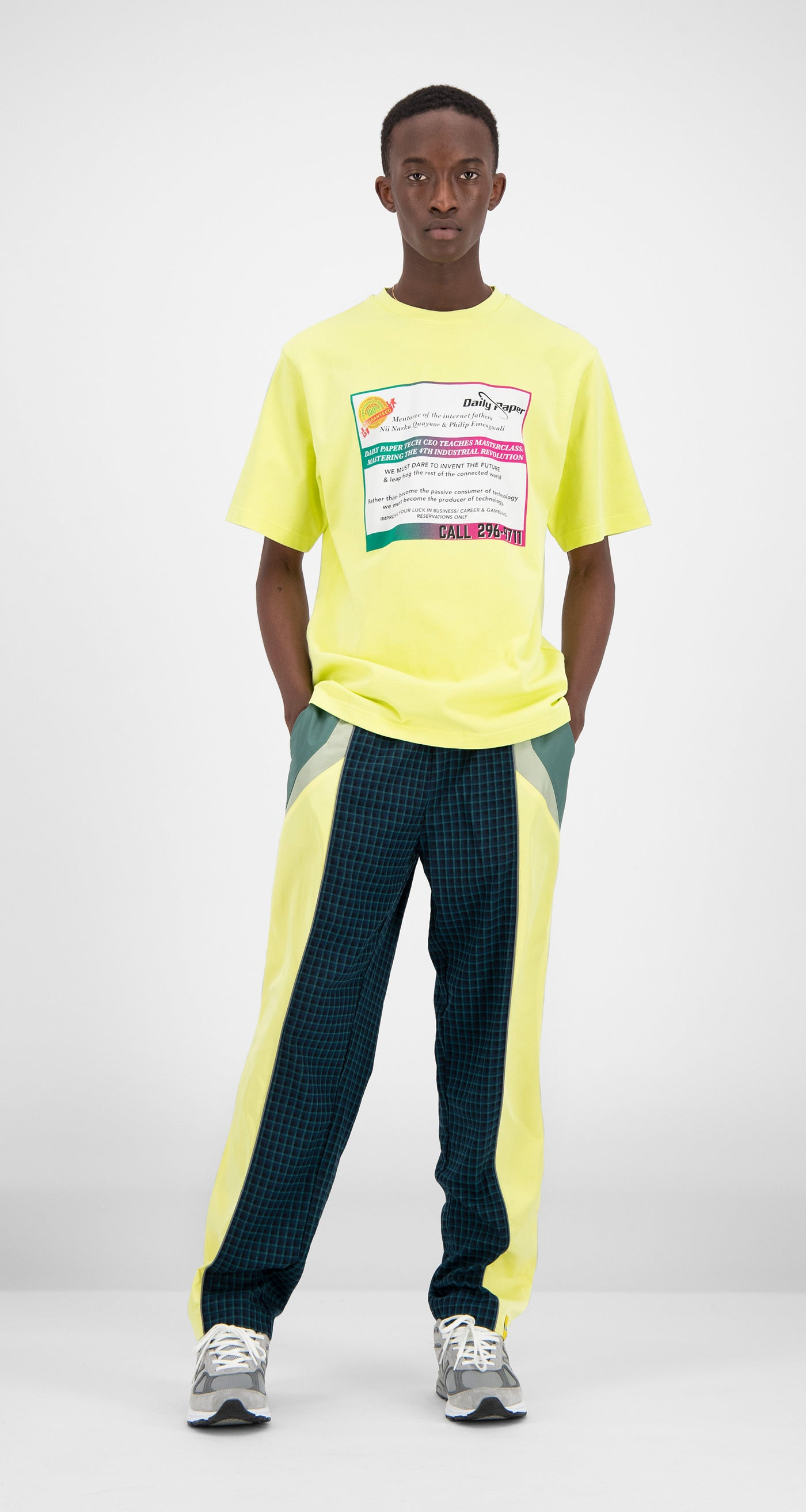 Daily Paper - Yellow Fabunni T-Shirt Men Front