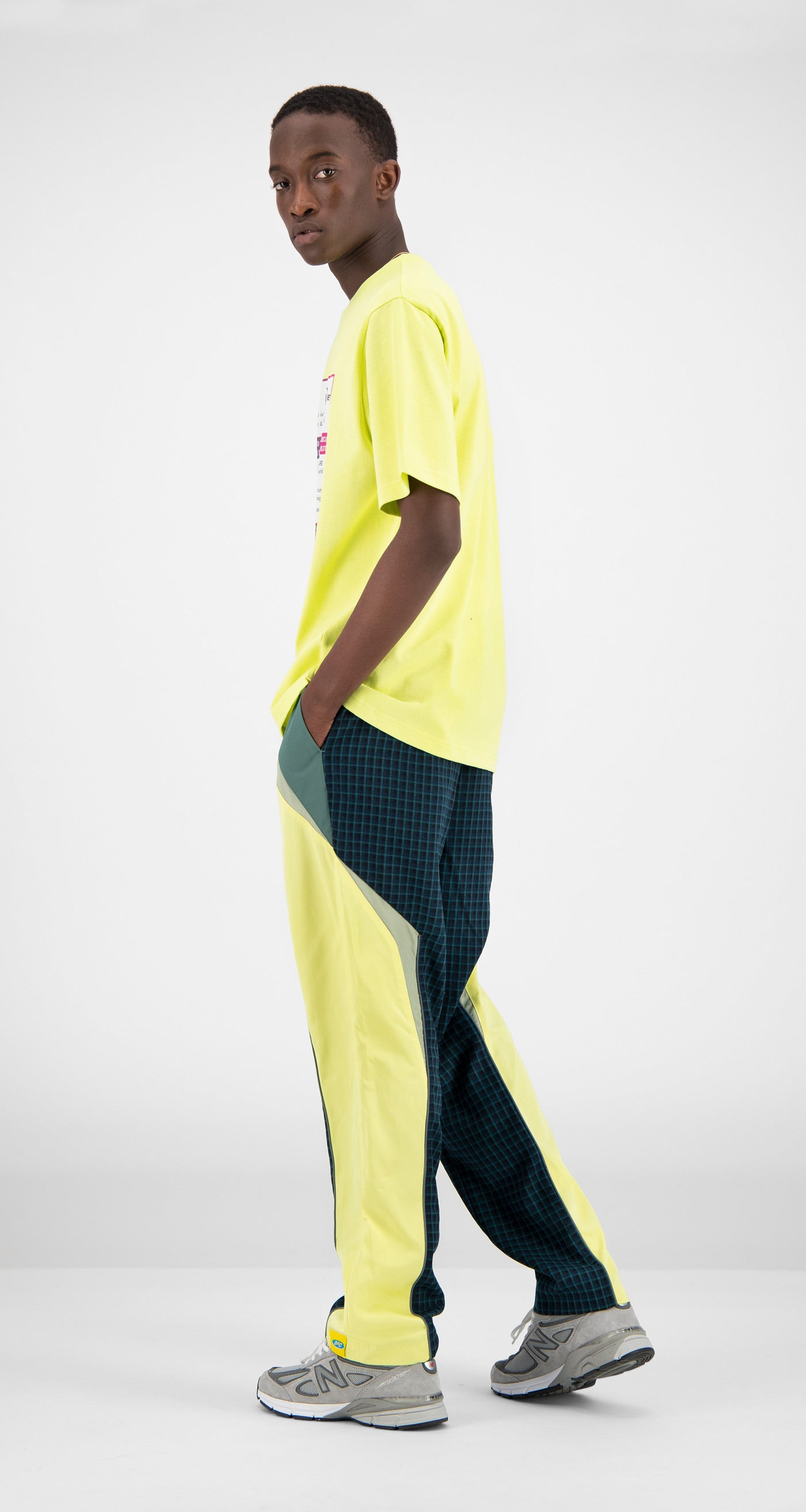 Daily Paper - Yellow Fabunni T-Shirt Men Rear