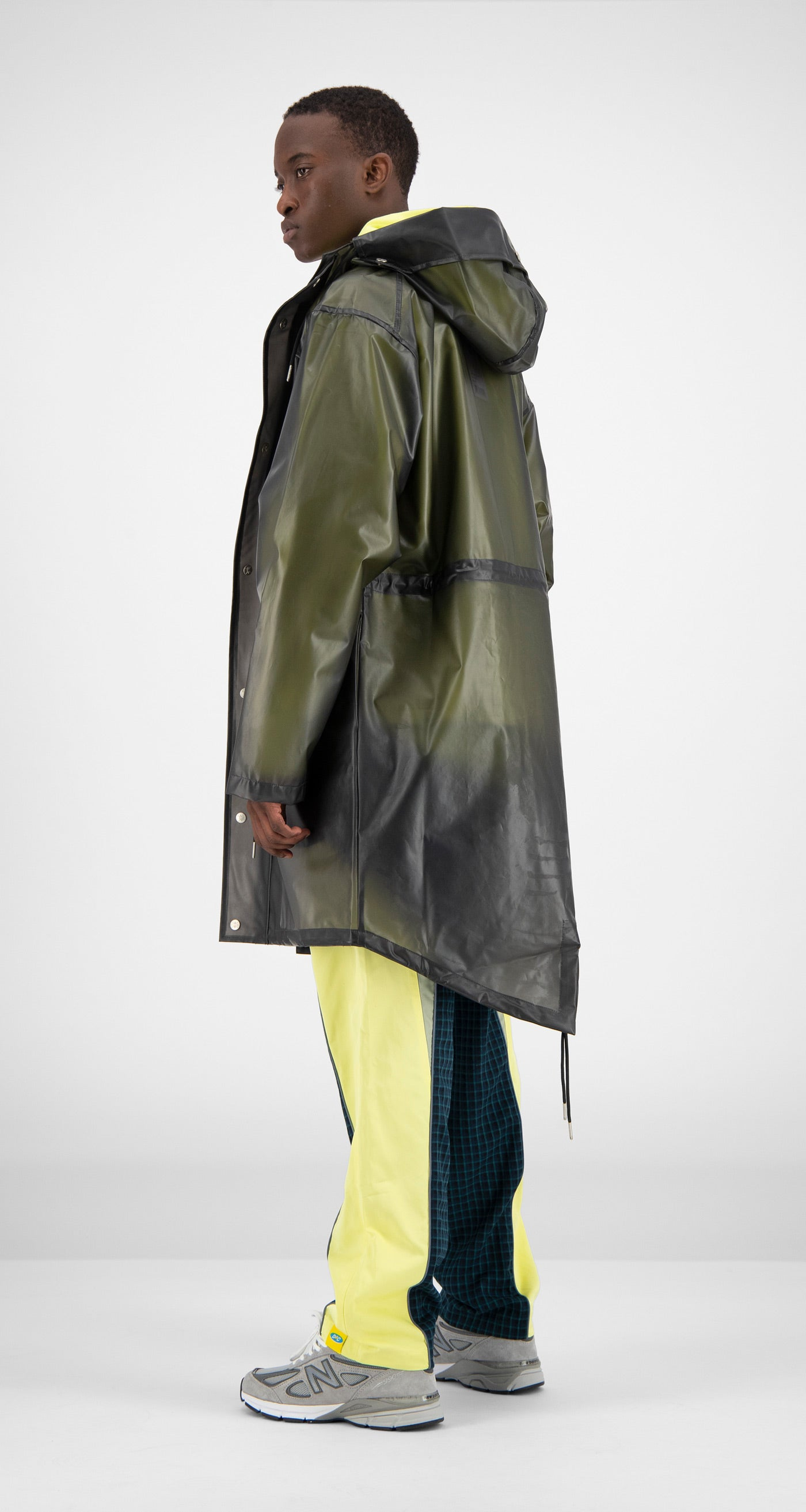 Daily Paper - Black Transparent Fatec Raincoat Men Rear