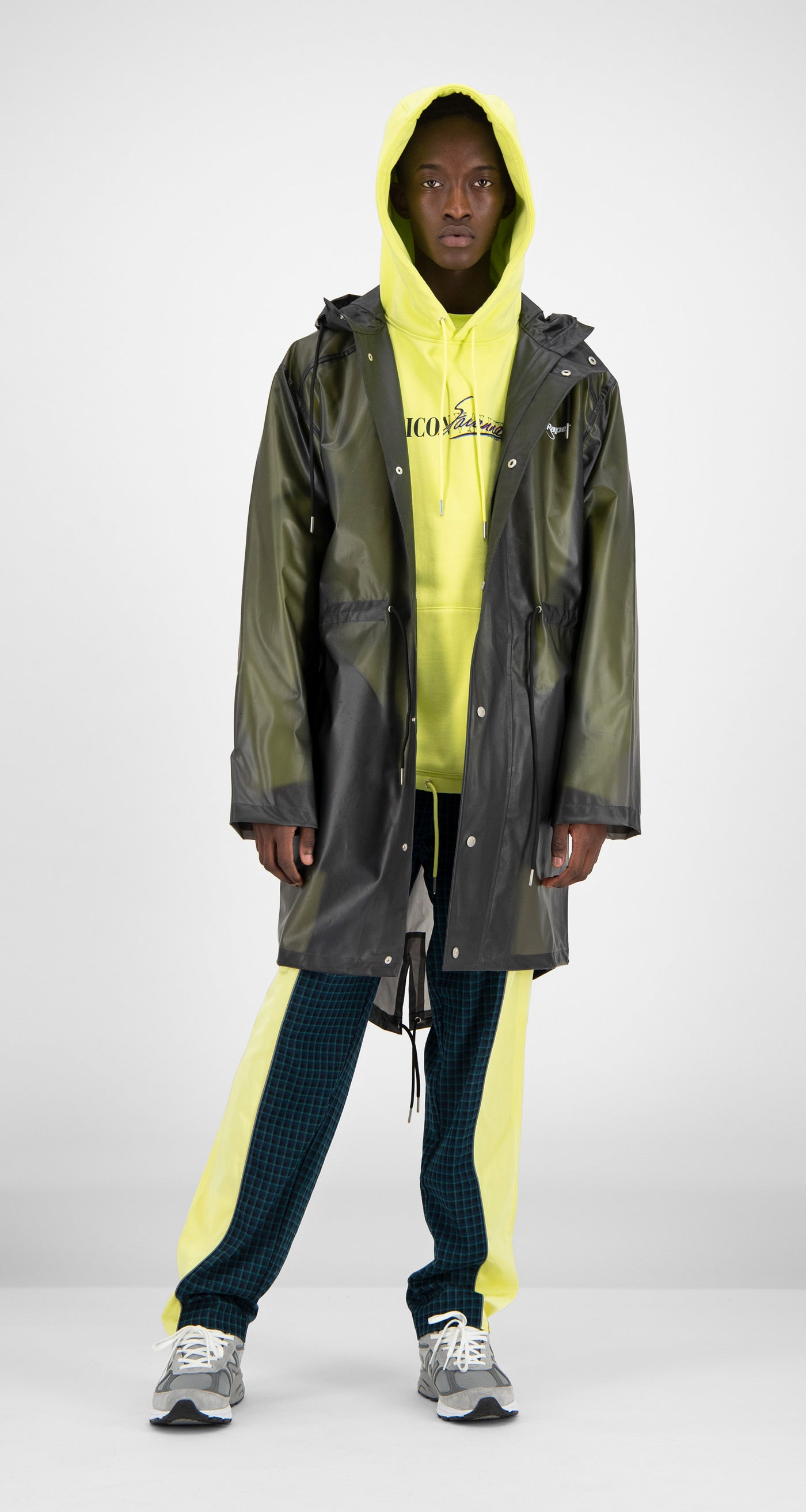 Daily Paper - Black Transparent Fatec Raincoat Men