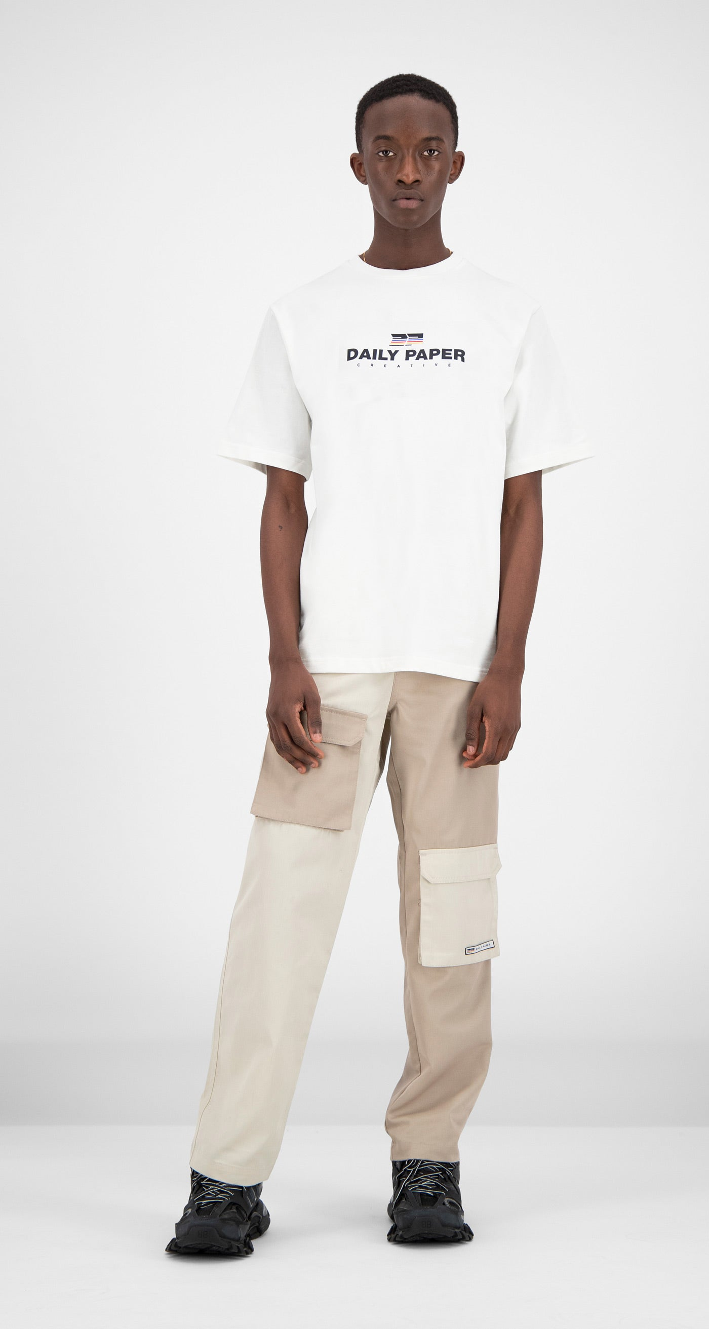 Daily Paper - White Farr T-Shirt Men Front