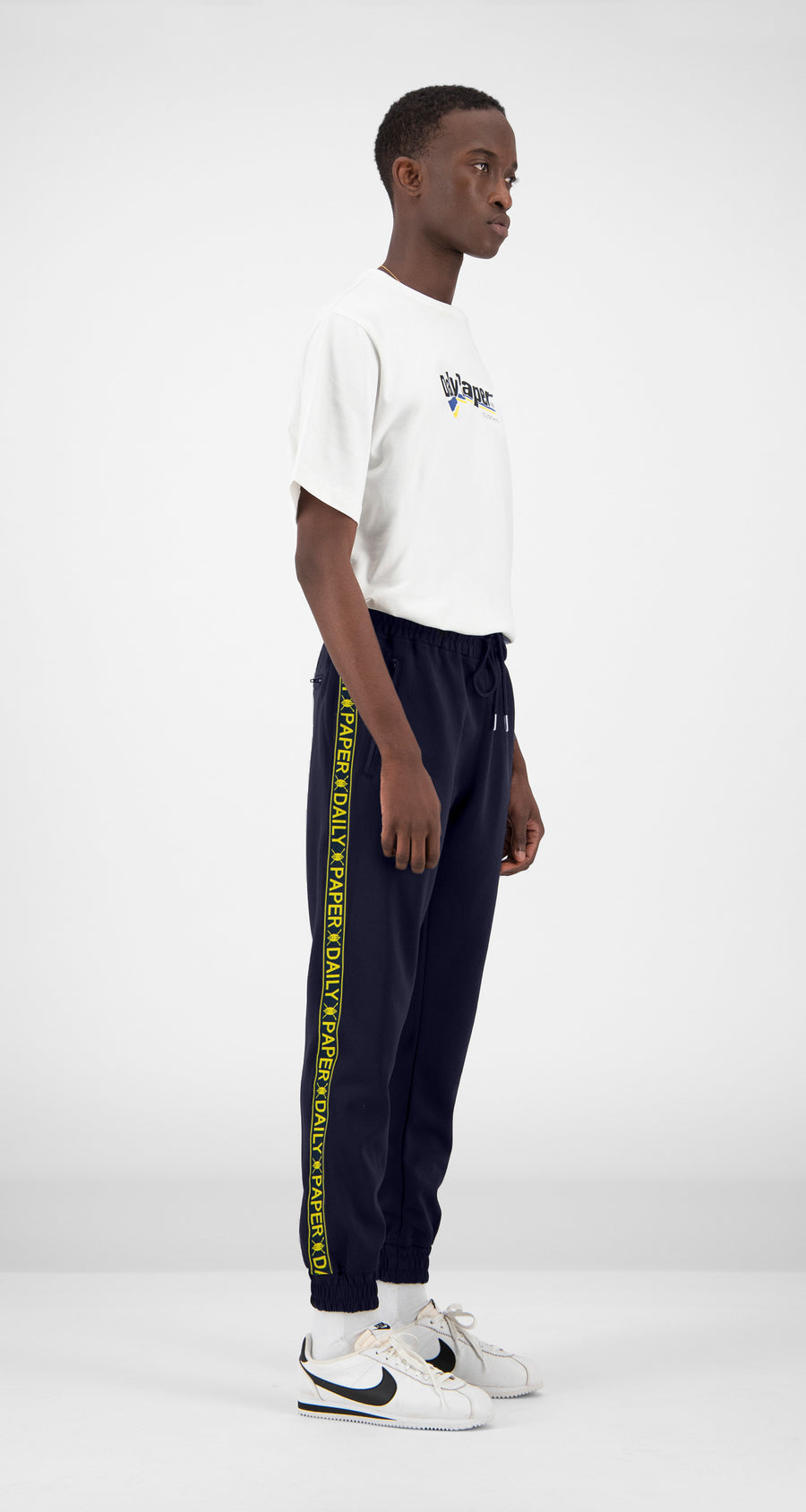 Daily Paper - Navy Tape Logo Track Pants Men